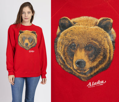 80s Alaska Grizzly Bear Sweatshirt - Large