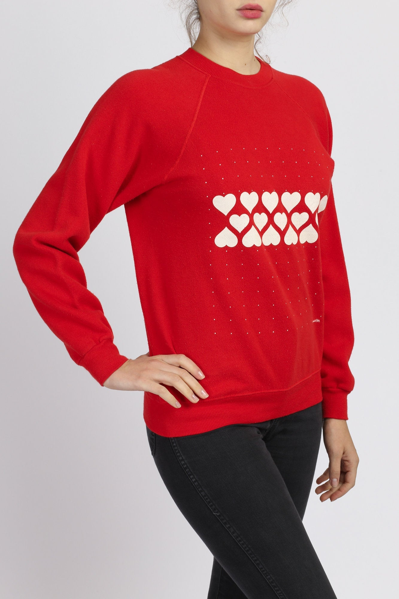 80s Heart Sweatshirt - Medium
