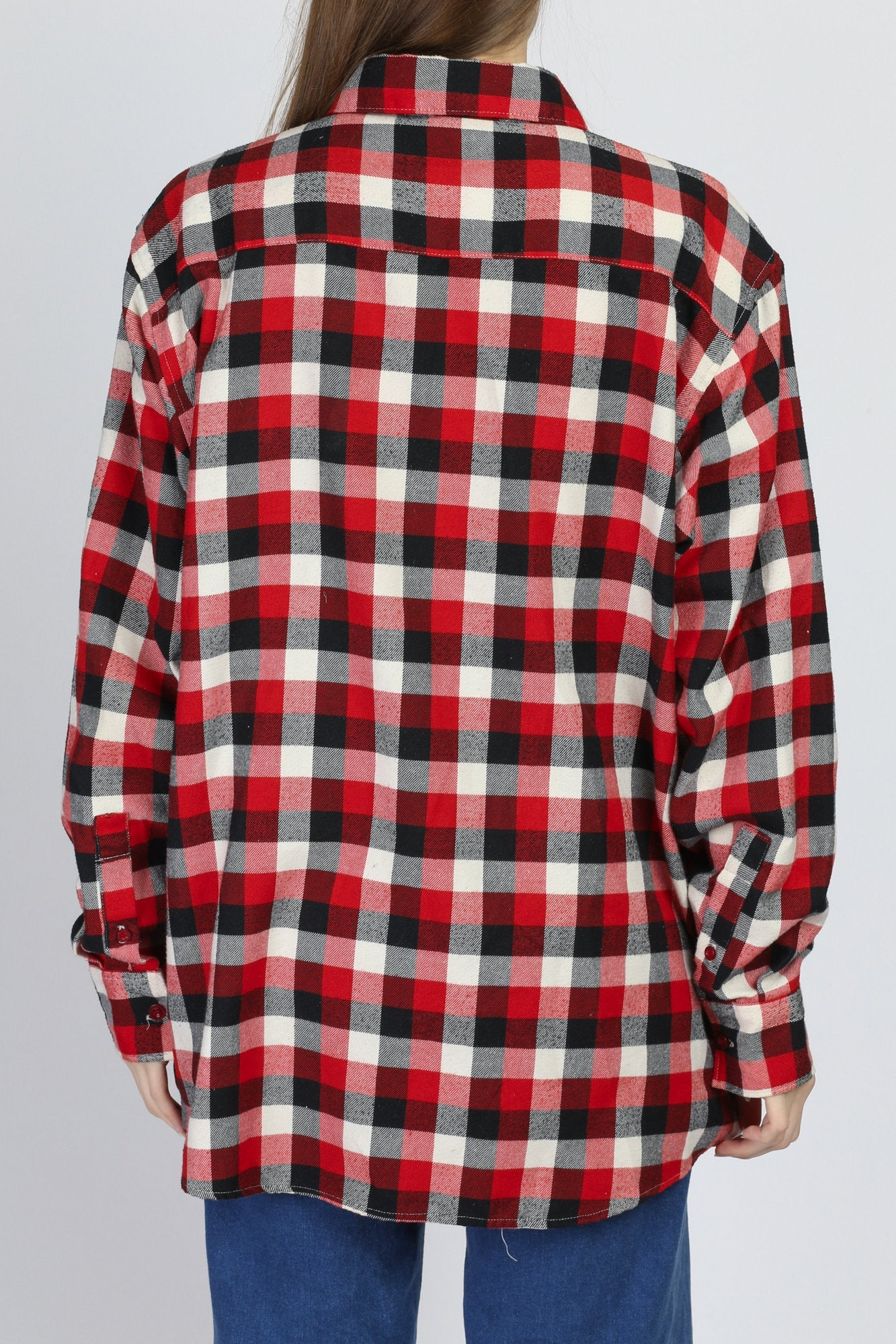 90s Soft Oversized Flannel Shirt - Men's XL