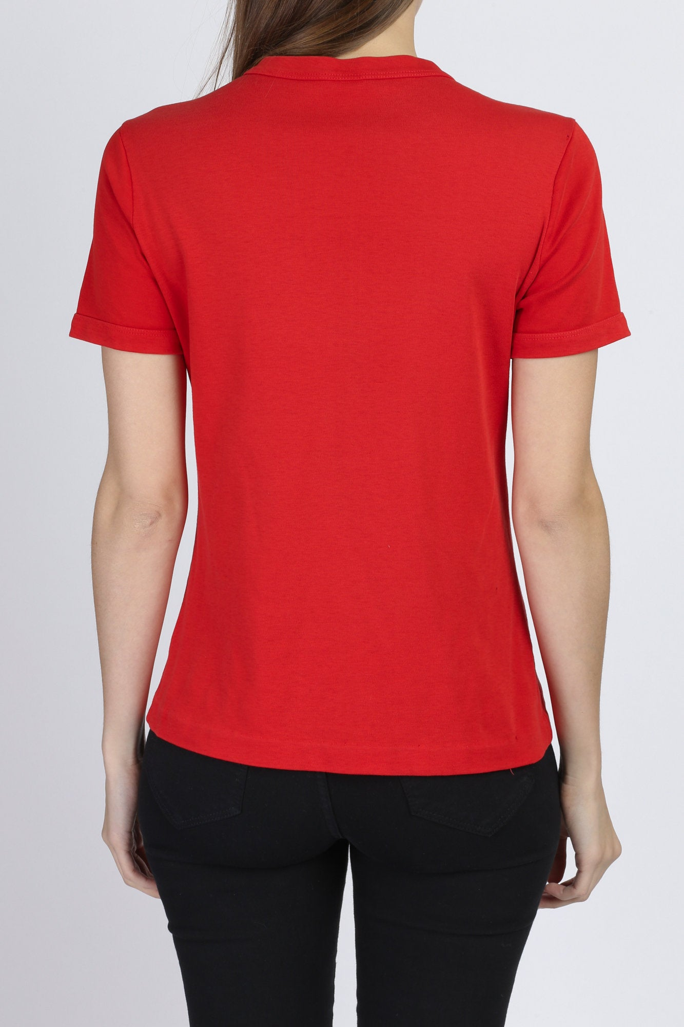 70s Red Henley Top - Medium