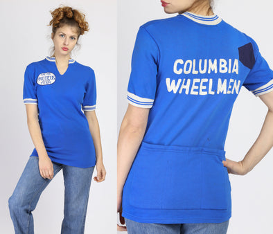 1960s Columbia Wheelmen Cycling Jersey - Small