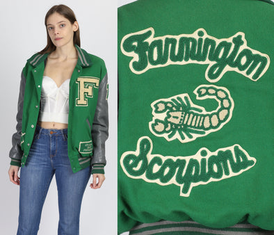 60s 70s Scorpions Varsity Letterman Jacket - Men's Large