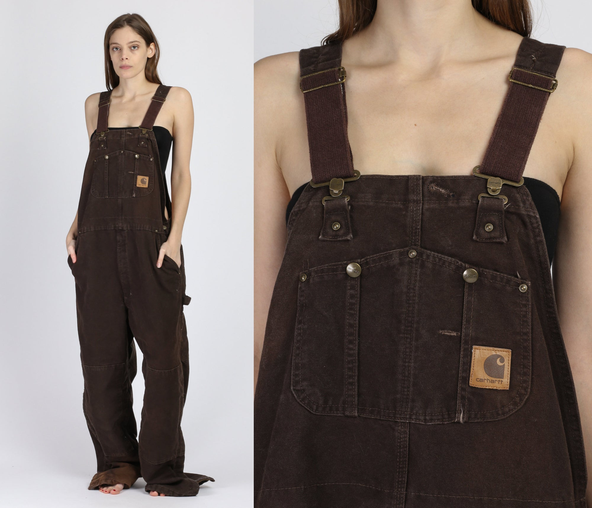 Vintage Carhartt Insulated Overalls - 42x32, Men's XL