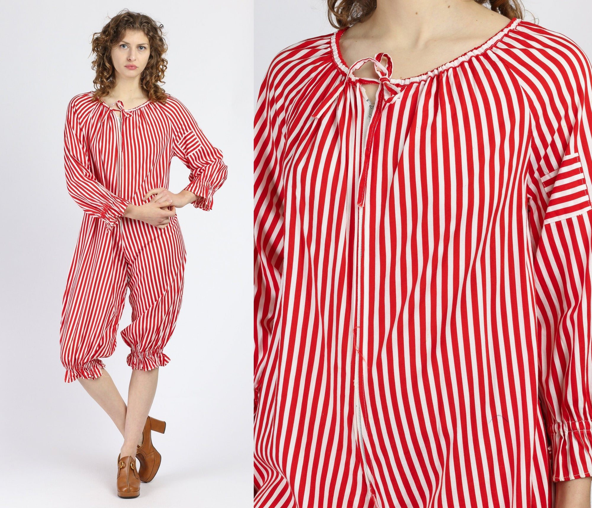 Vintage Striped Onesie Circus Costume - One Size, Petite