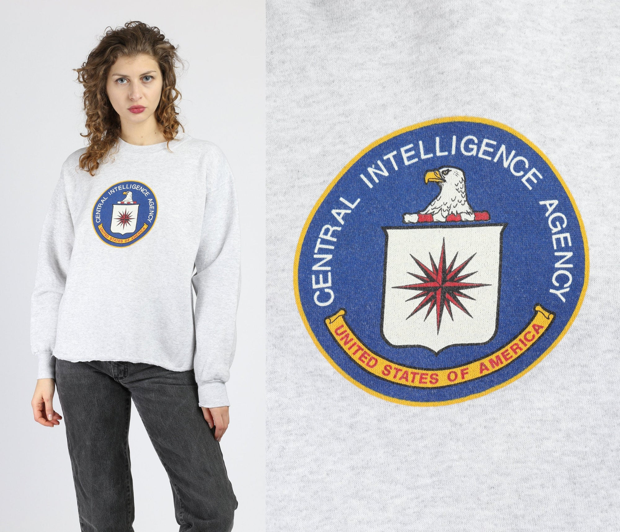 Vintage CIA Sweatshirt - Men's Medium