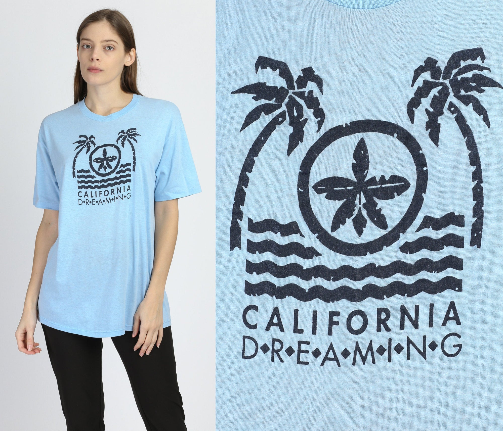 80s California Dreaming Tourist T Shirt - Extra Large