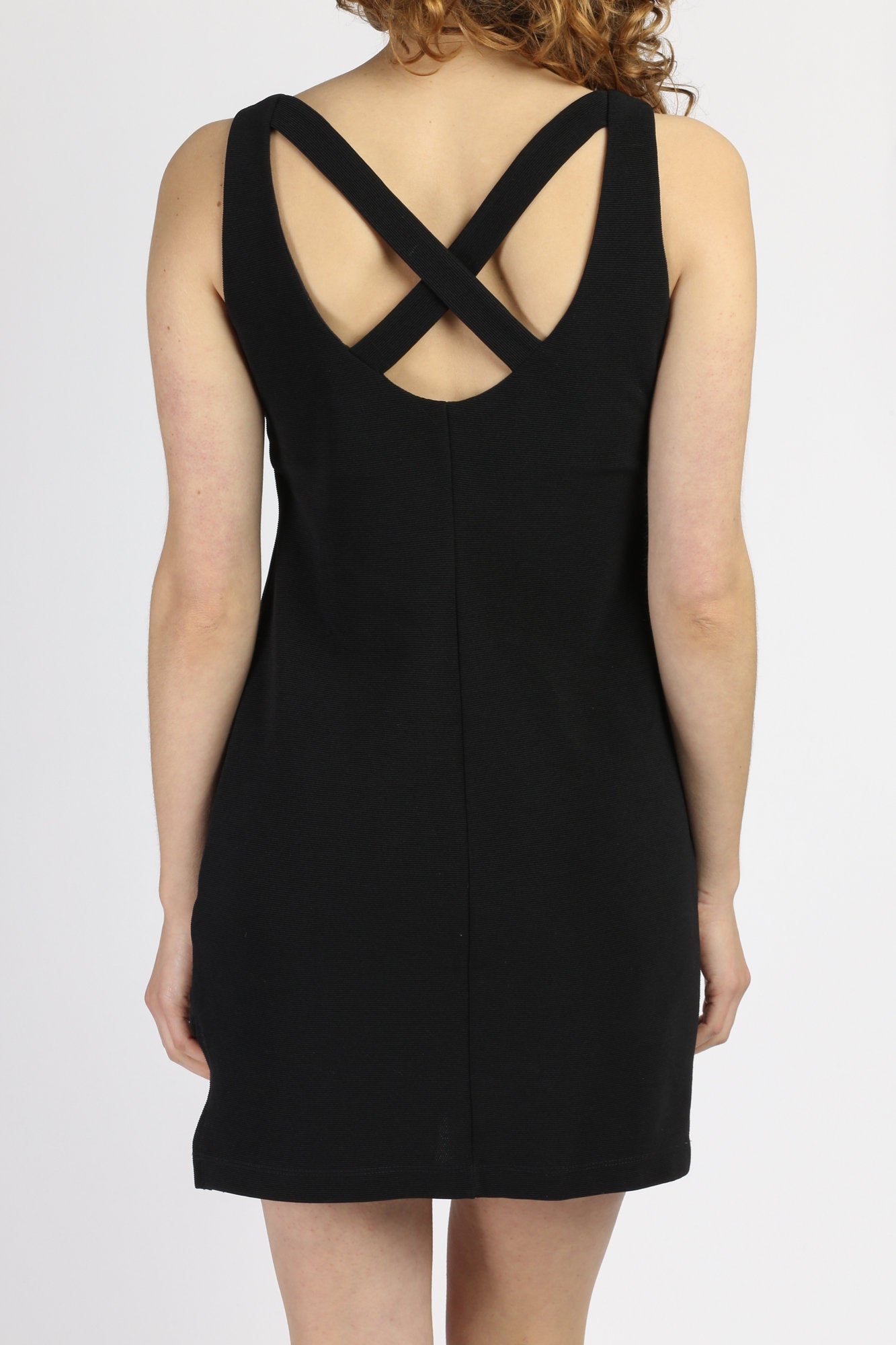 90s Strappy Little Black Dress - Medium