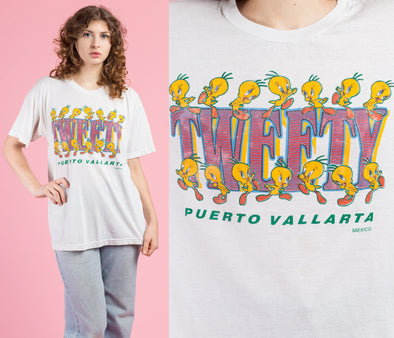 90s Mexico Tweety Bird T Shirt - One Size