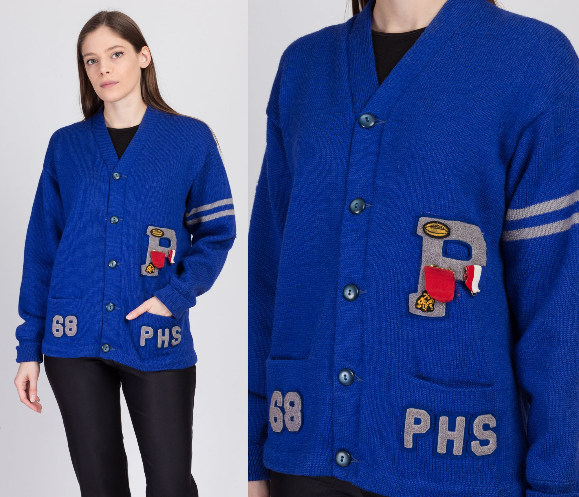 1950s Varsity Letterman Sweater - Medium to Large