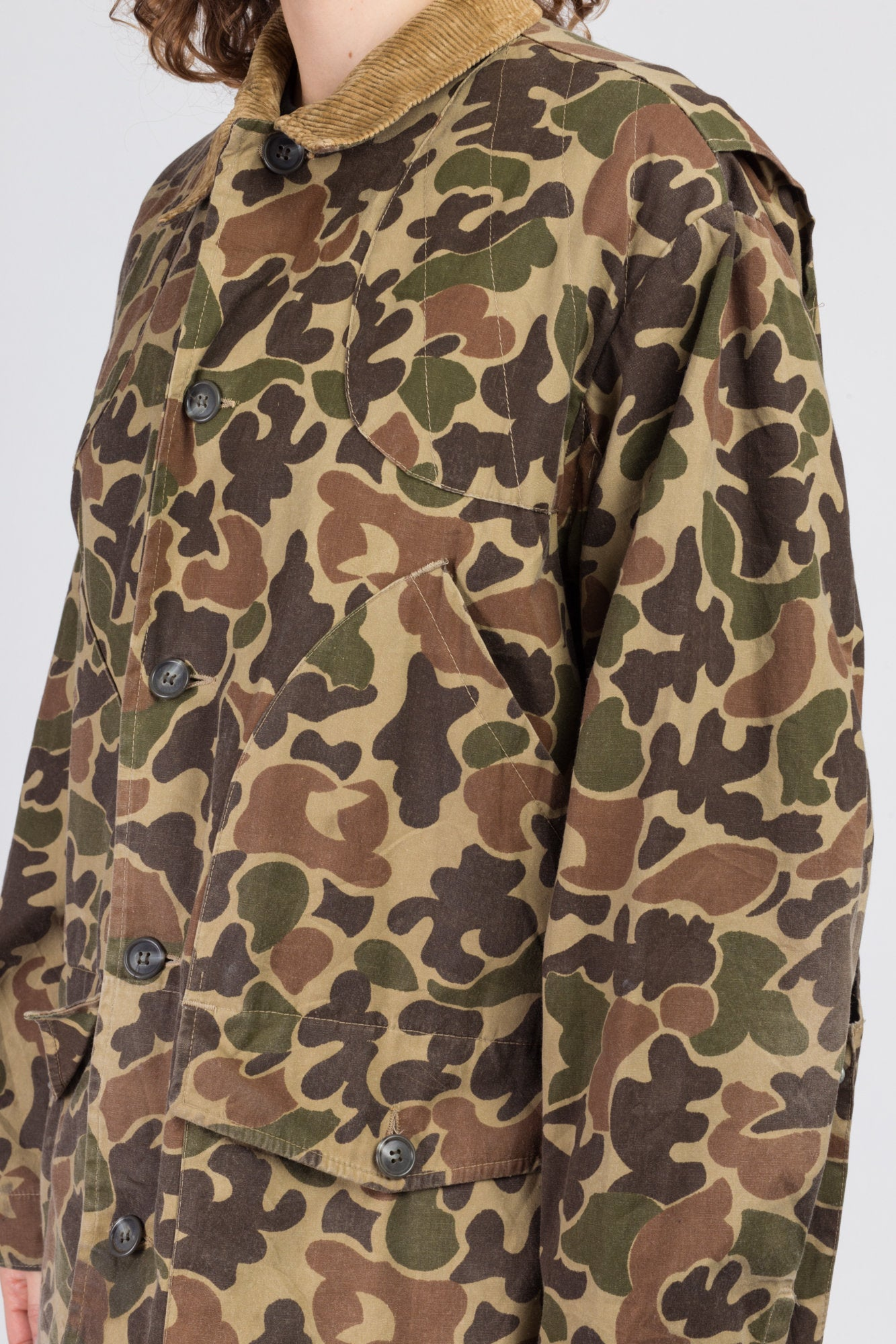 70s Camouflage Hunting Jacket - Men's Large