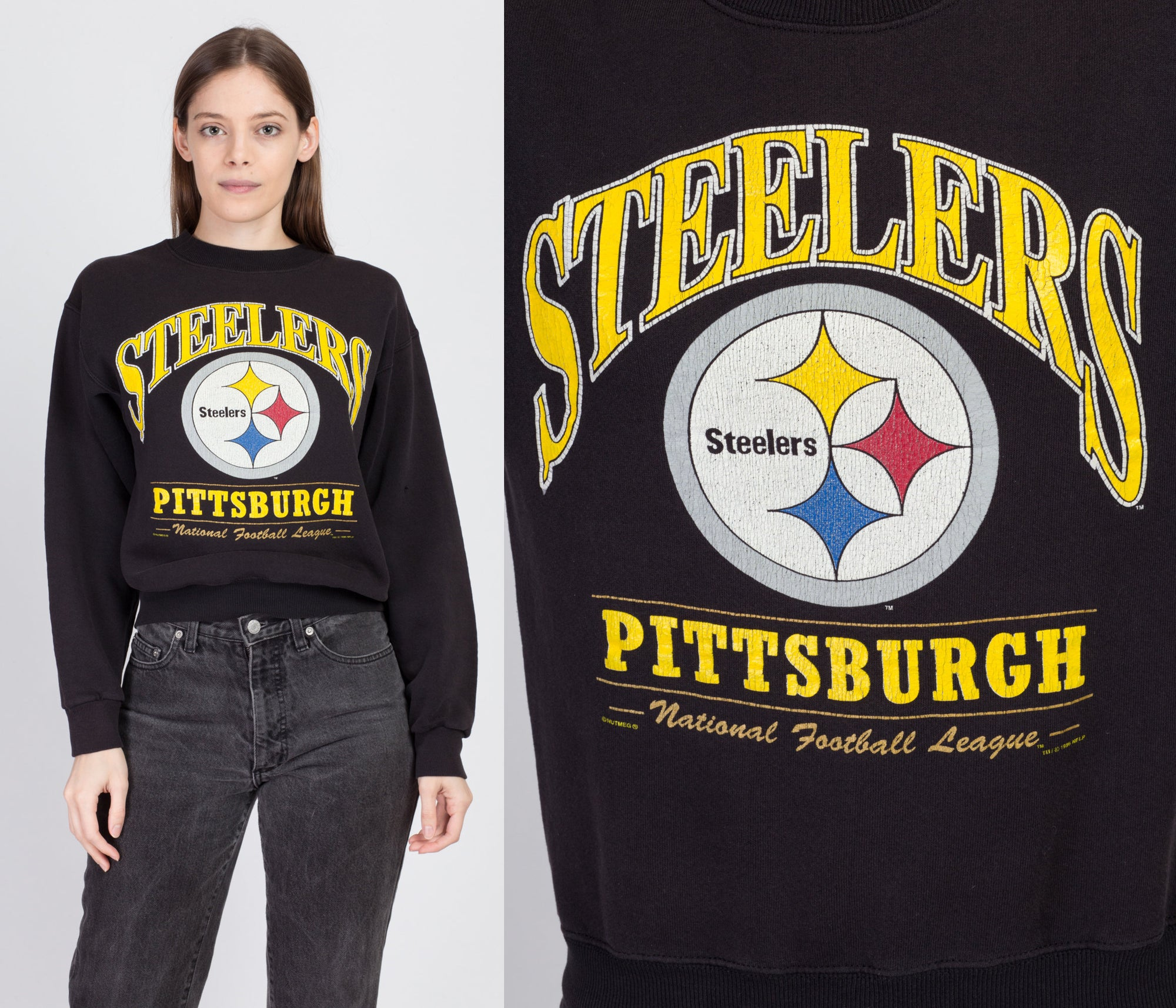 90s Pittsburgh Steelers Sweatshirt - Medium