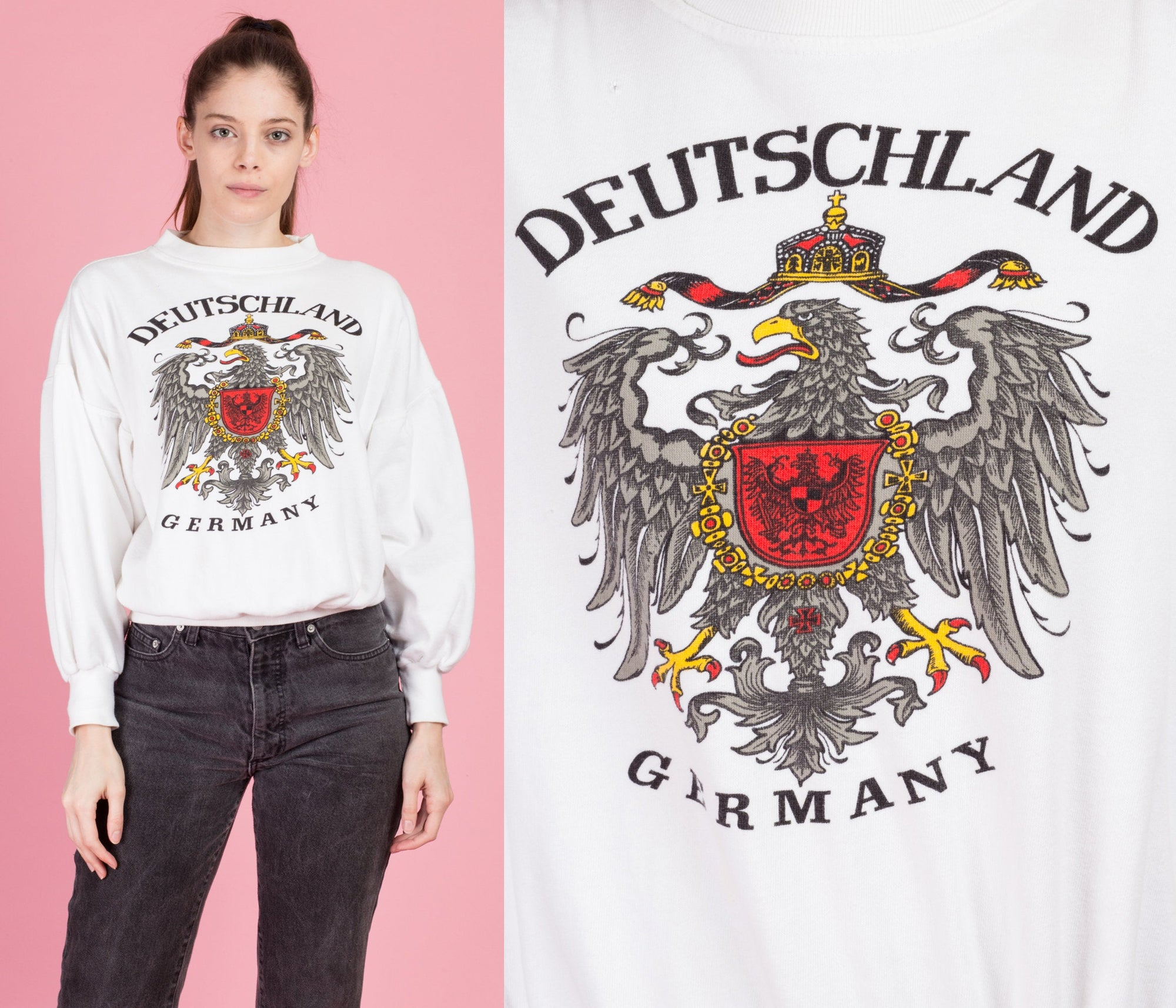 90s Deutschland Germany Sweatshirt - Large