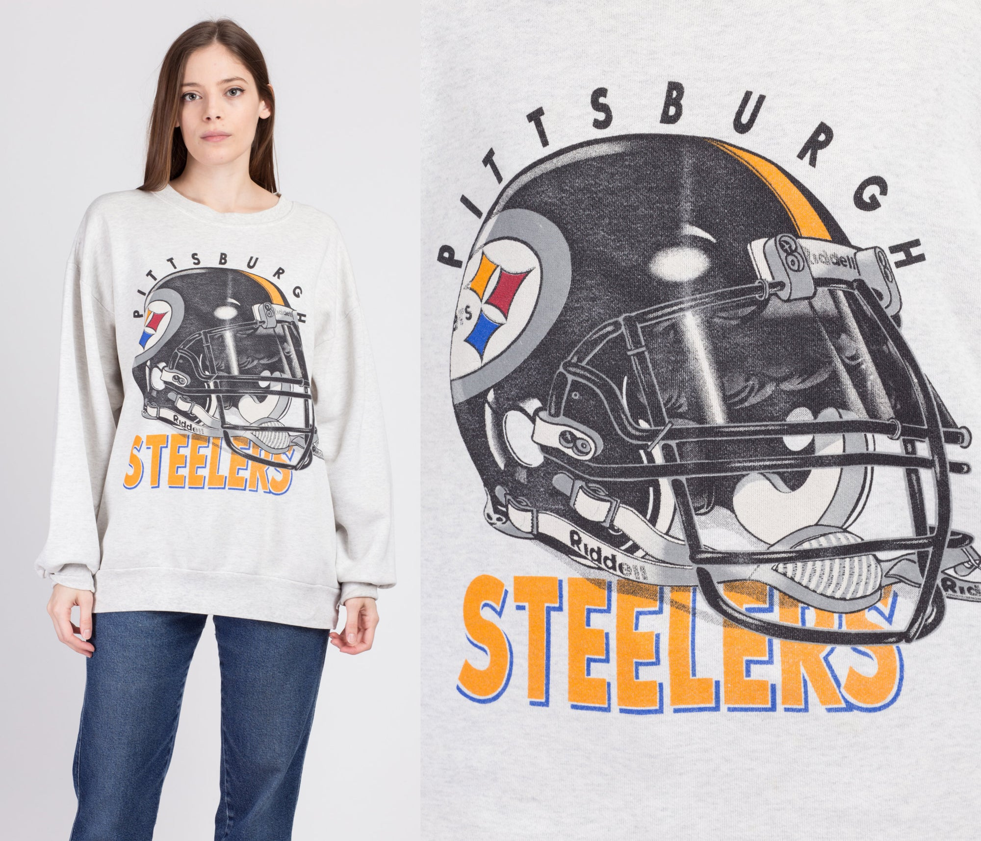 90s Pittsburgh Steelers Sweatshirt - Men's XL
