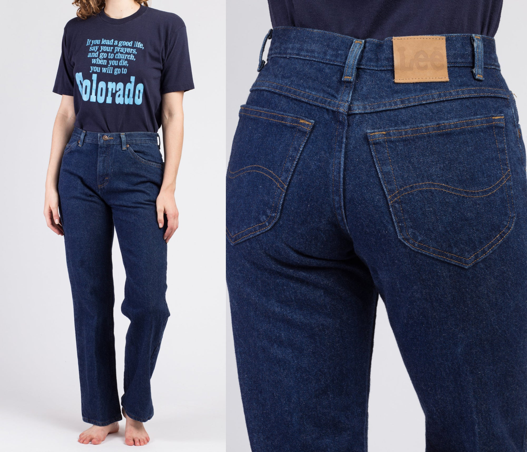 Vintage Lee High Waist Jeans - Medium