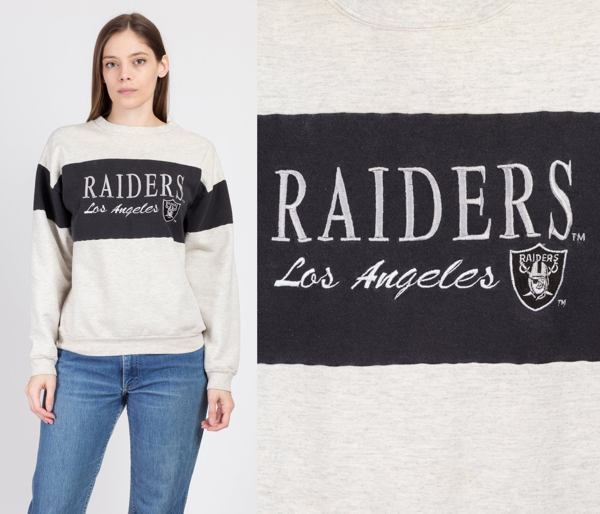 80s Los Angeles Raiders Sweatshirt - Large