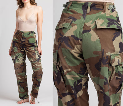 "Vintage High Waisted Camo Pants - Men's S, Women's S-M, 25""-29"""