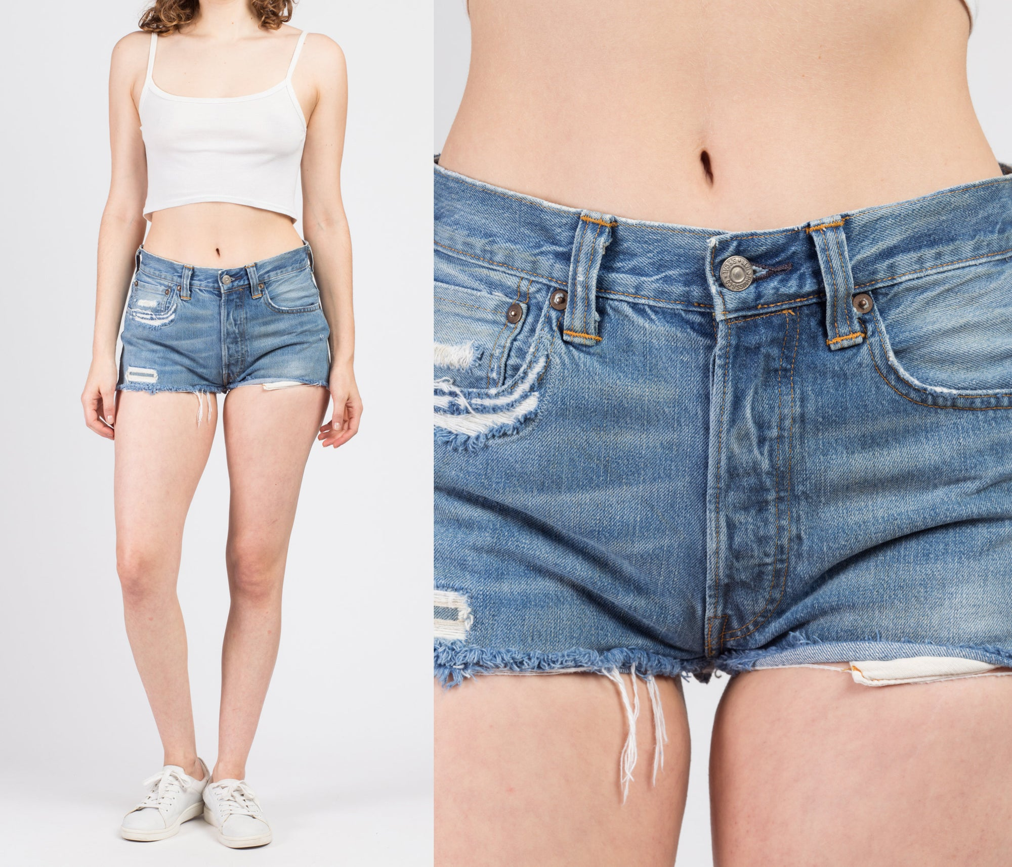 1950s Levi's Big E Cutoff Shorts - Small