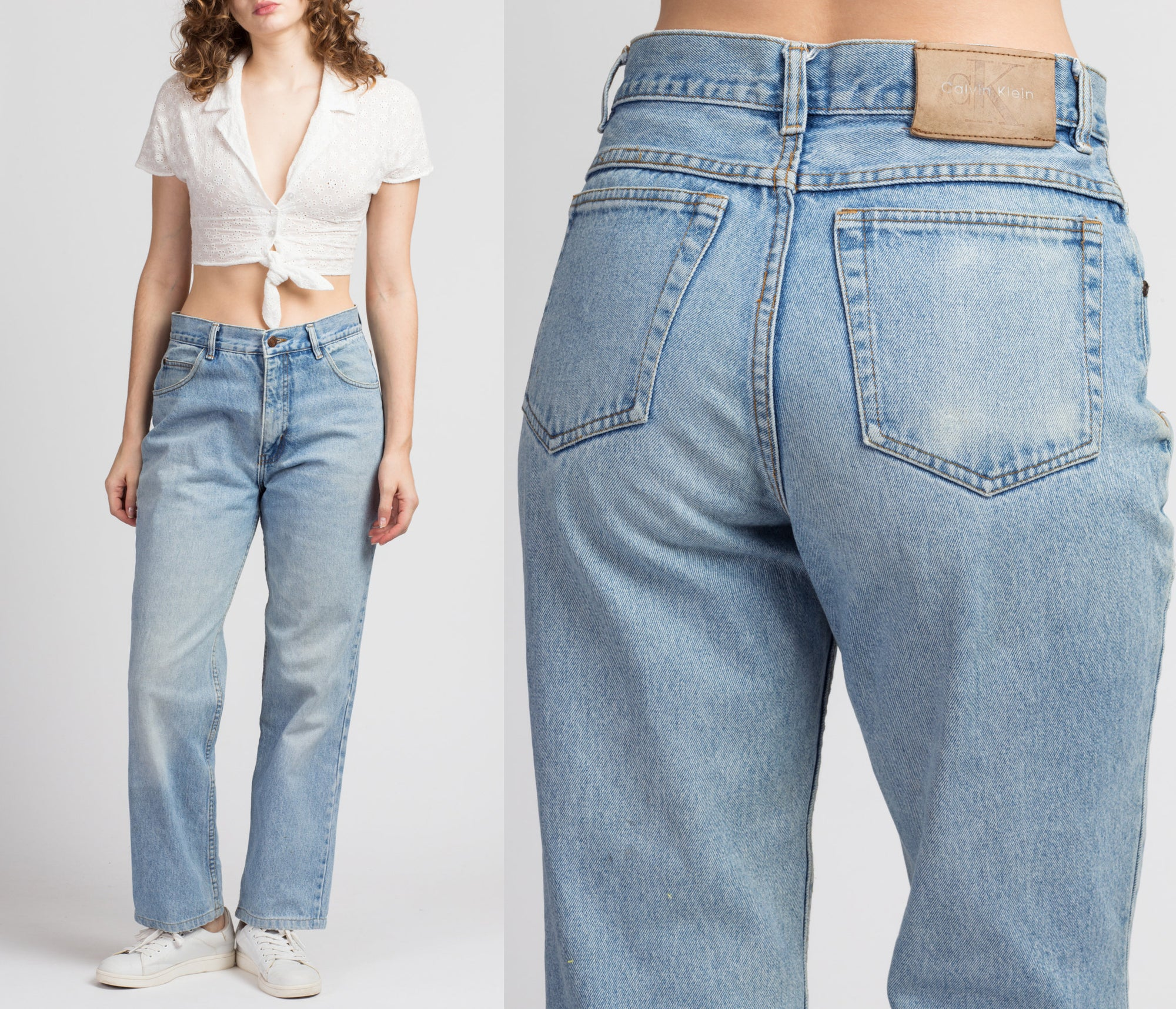 90s Calvin Klein High Waisted Boyfriend Jeans - Medium, 31""