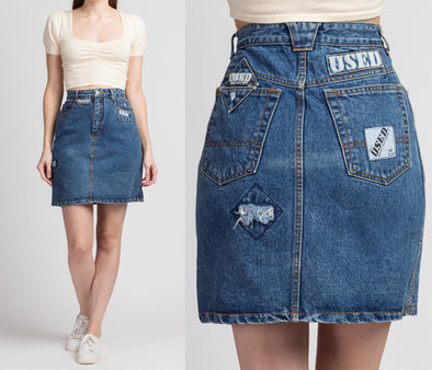 80s Get Used Streetwear Jean Skirt - Medium