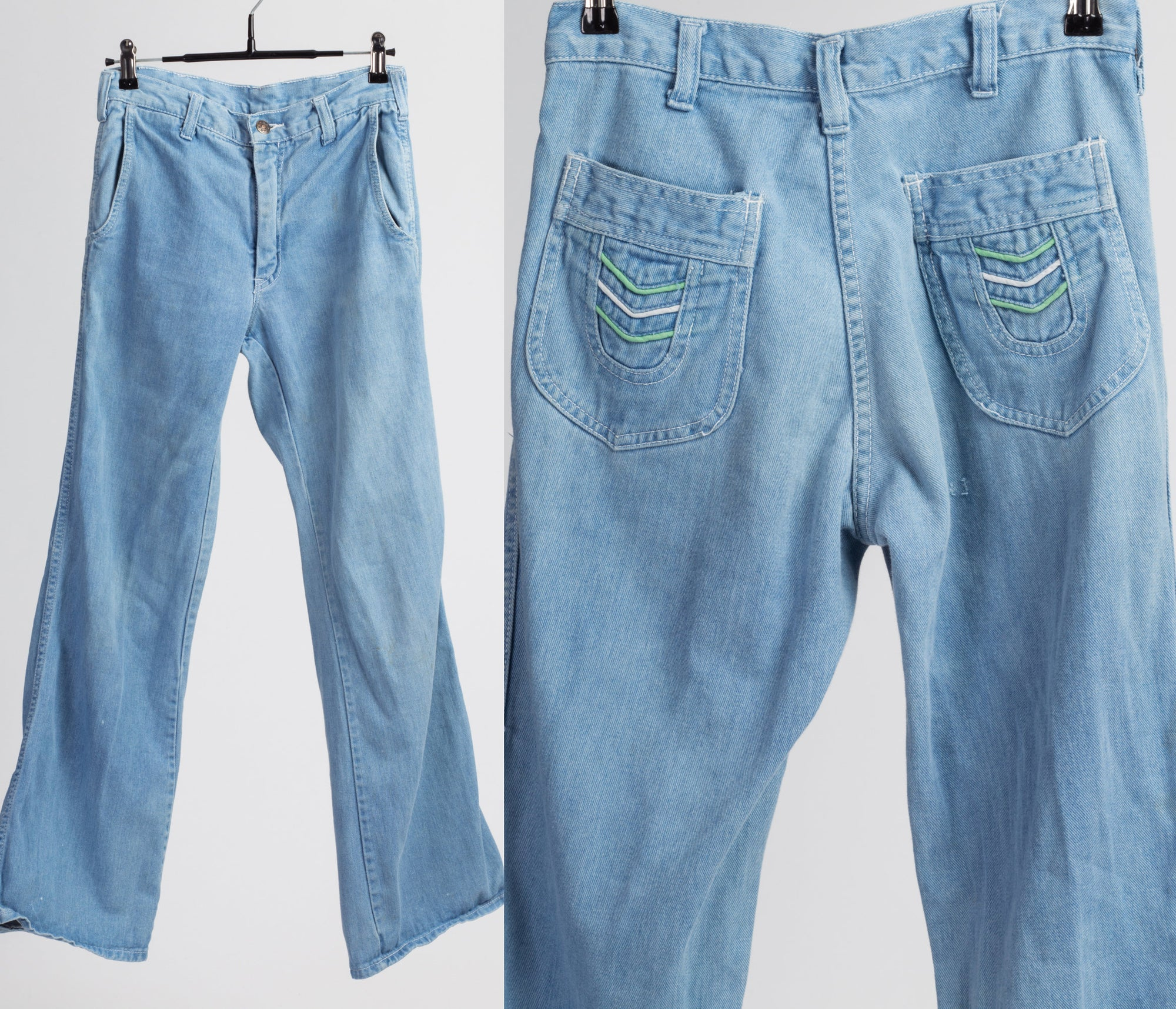 Retro 70s Mid Rise Jeans - Extra Small