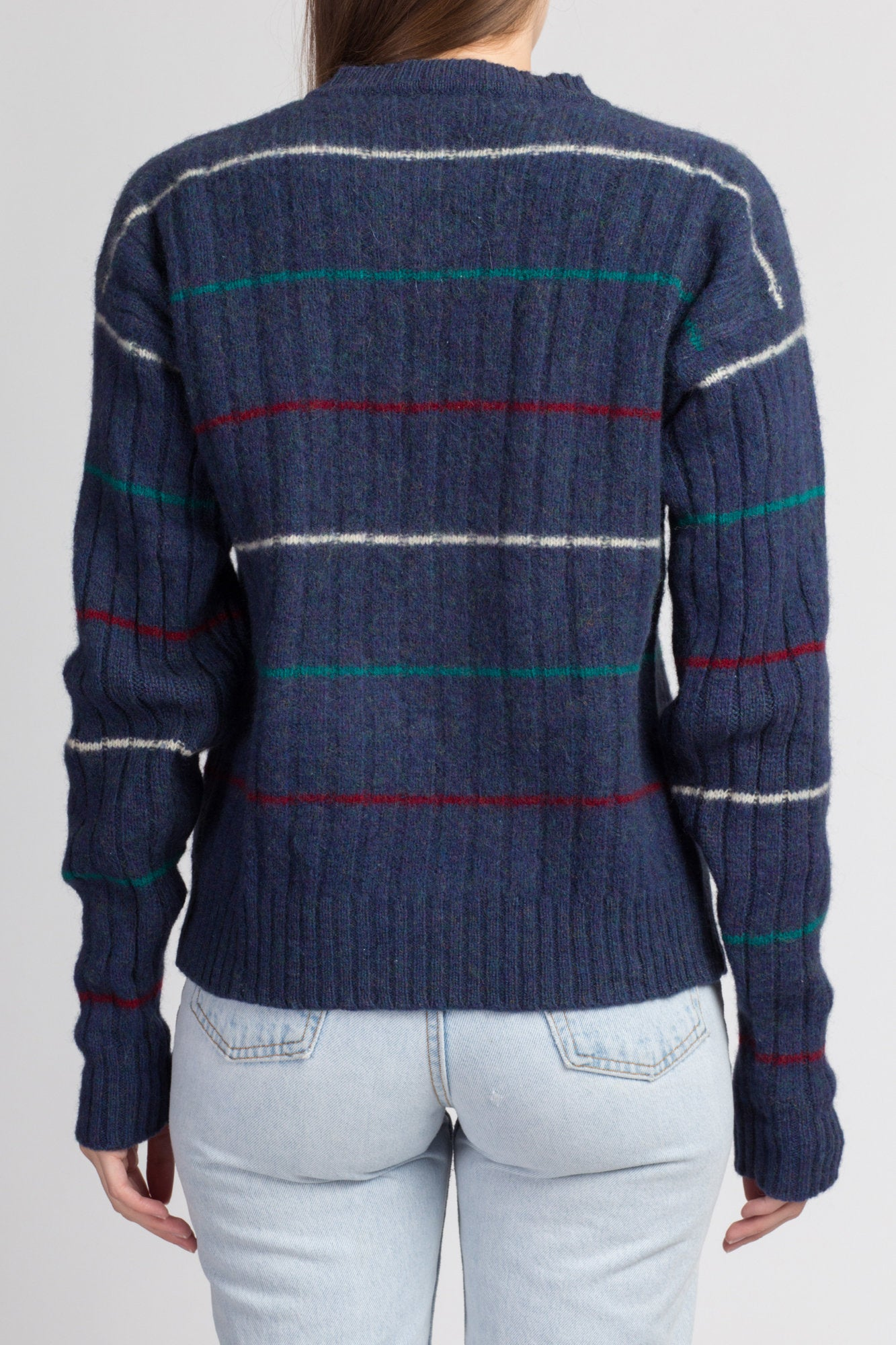 Vintage Yves Saint Laurent Striped Knit Sweater - Men's Small