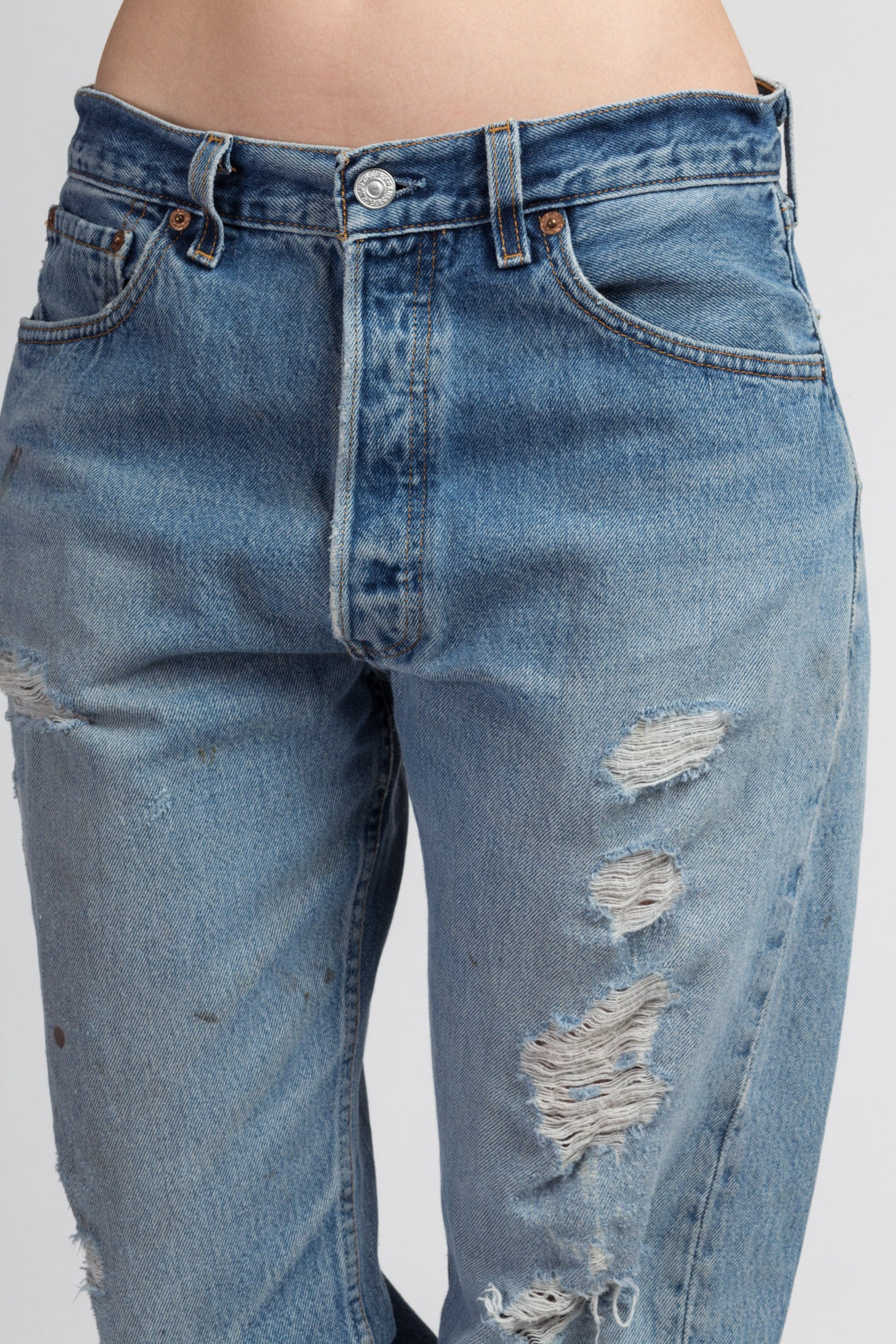 Vintage Levi's 501 Made In USA Distressed Jeans - 32x32