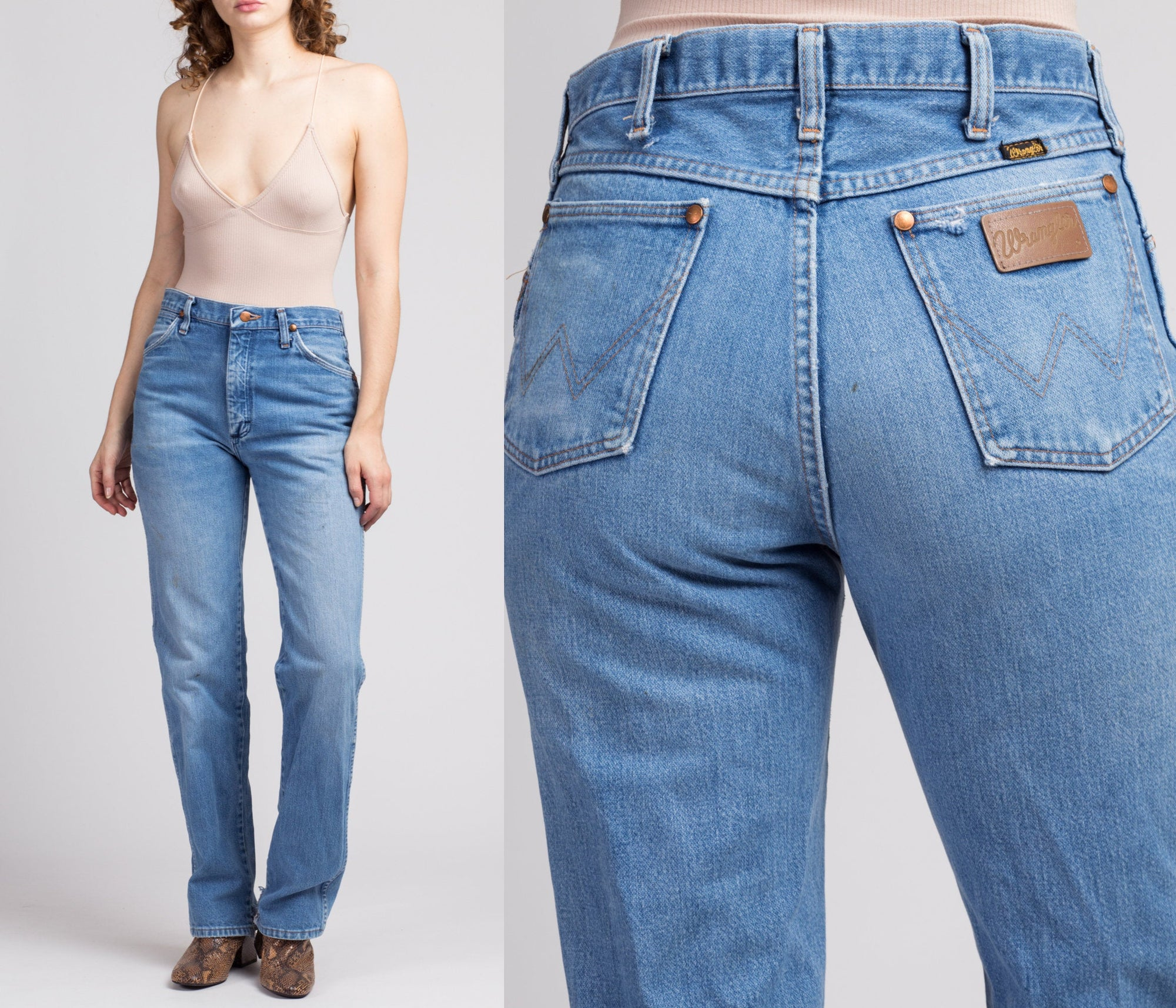 Vintage Wrangler High Waist Jeans - Medium