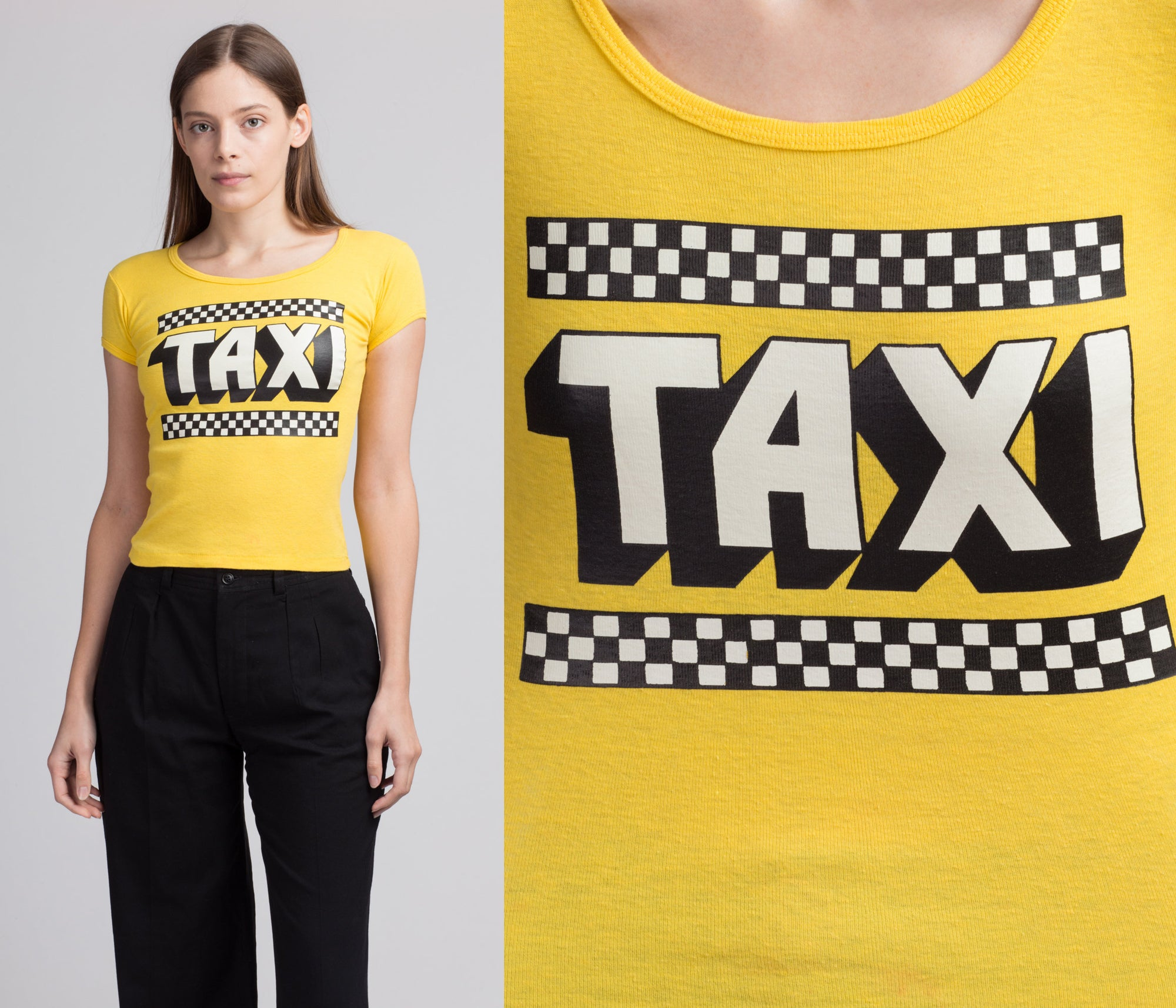 70s 80s Taxi TV Series Cropped Tee - Extra Small