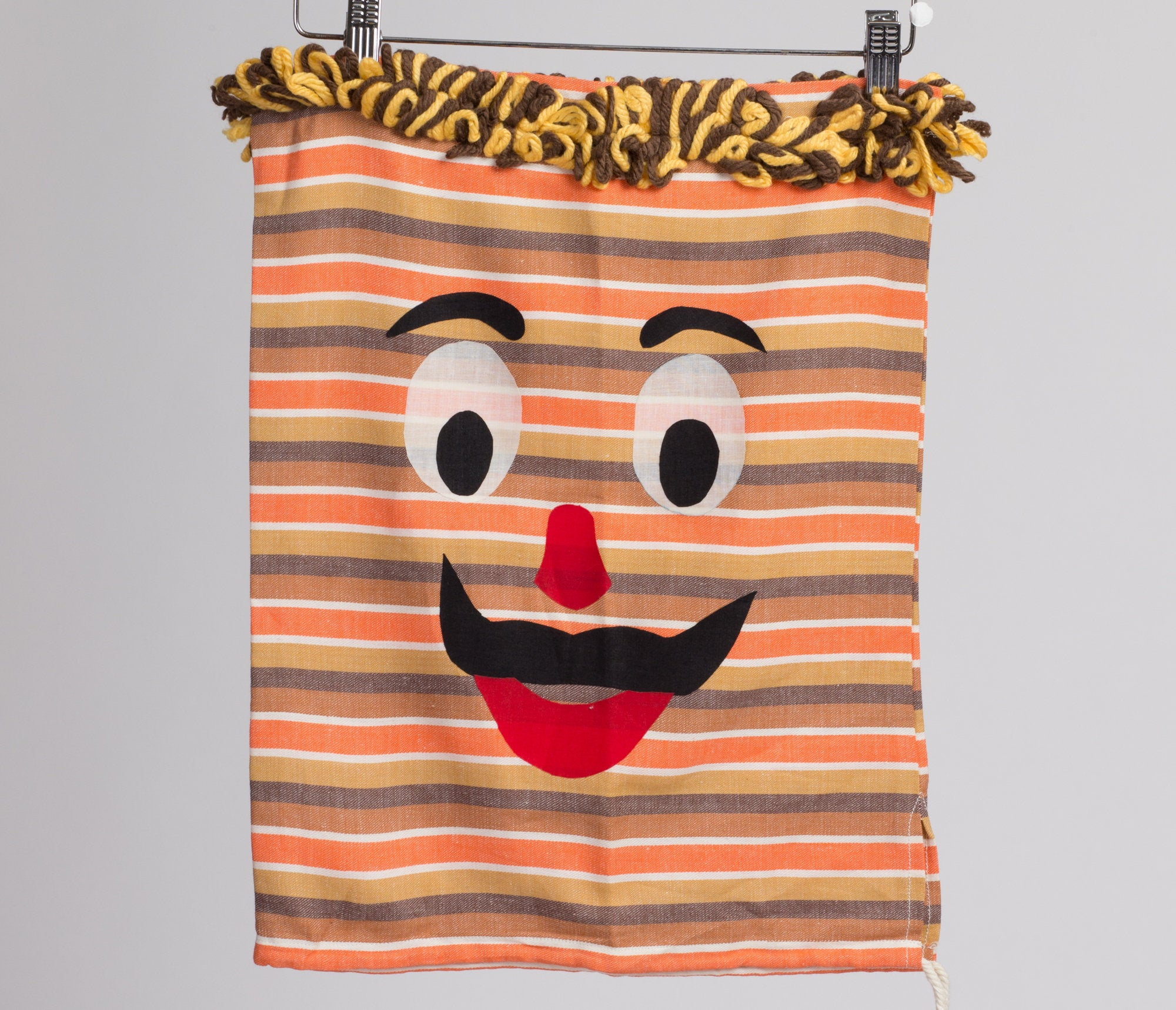 Striped Mustache Man Fringe Pillowcase