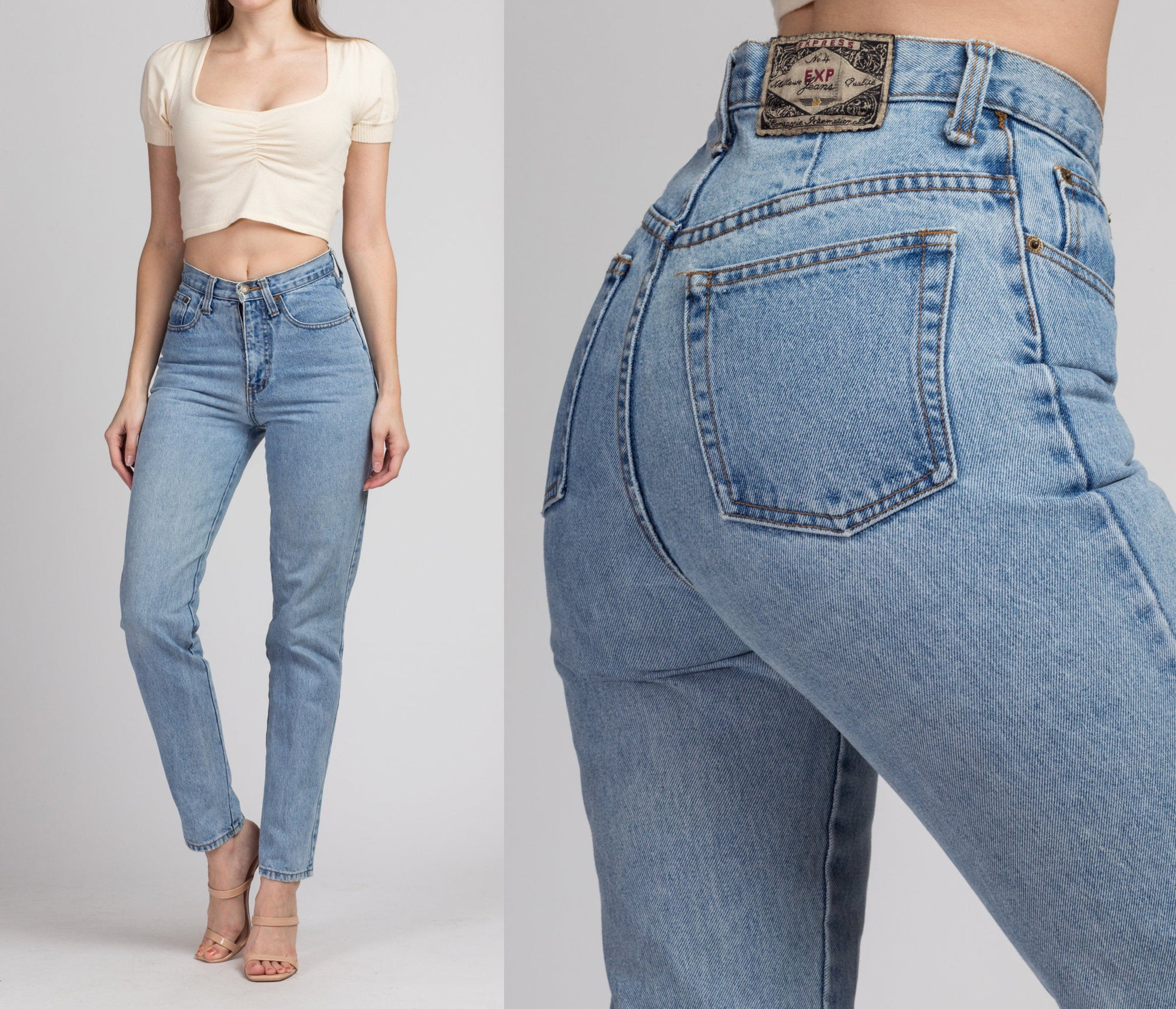 90s High Waist Express Jeans - XS to Small, 26""
