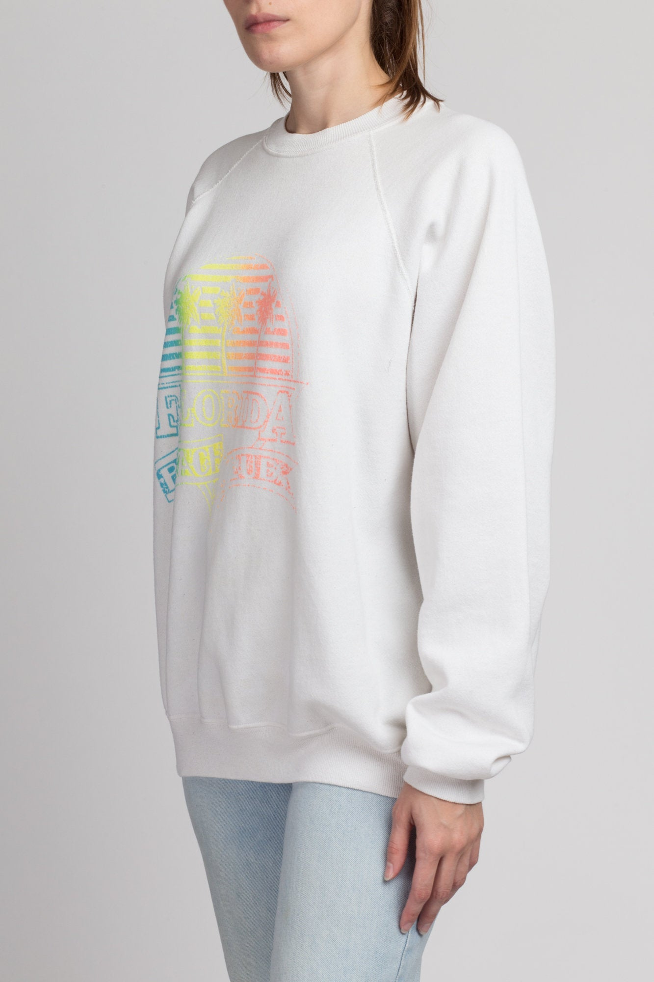 80s Florida Beach Week Sweatshirt - Extra Large