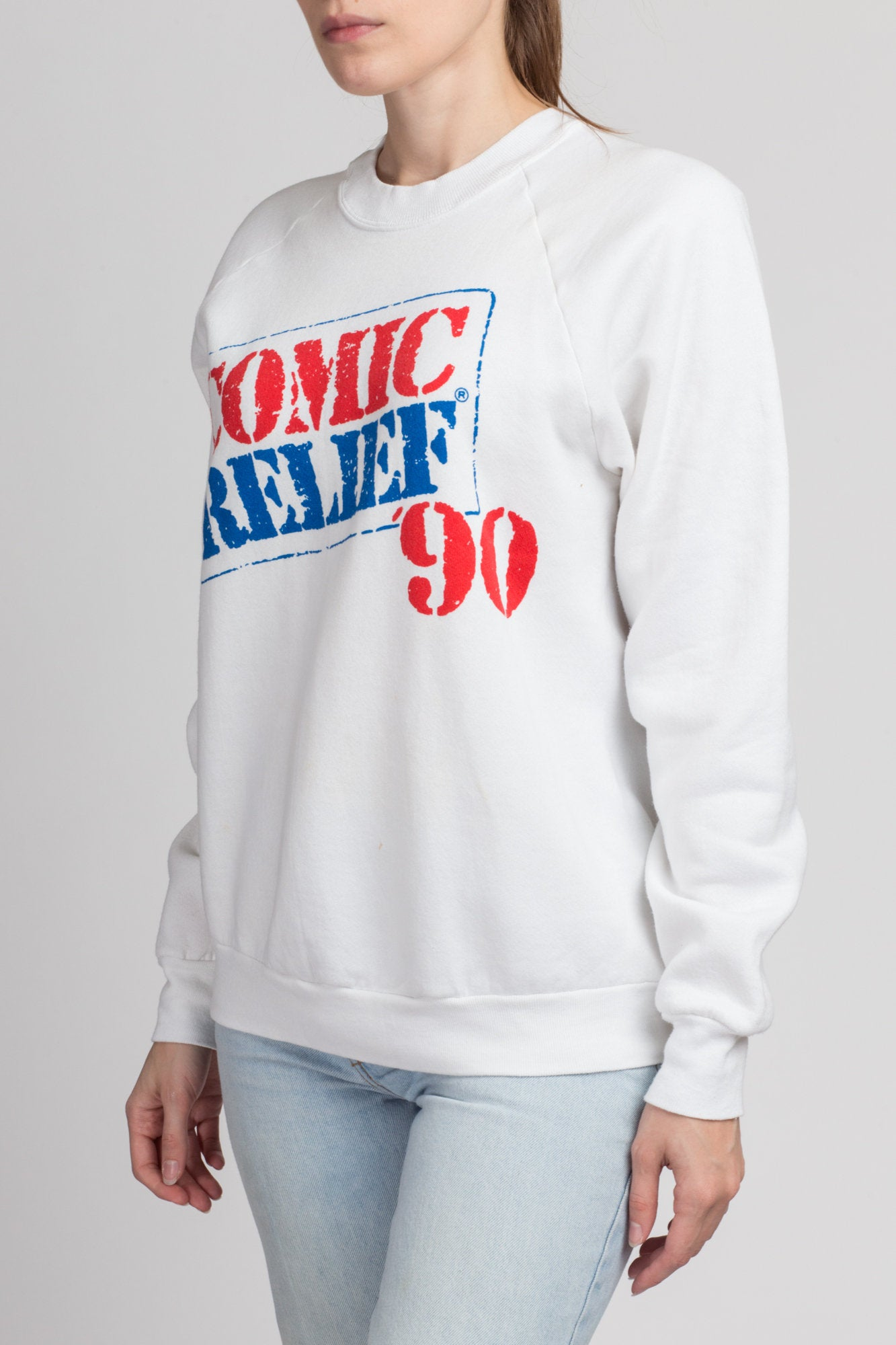 Vintage 1990 Comic Relief Sweatshirt - Men's Medium