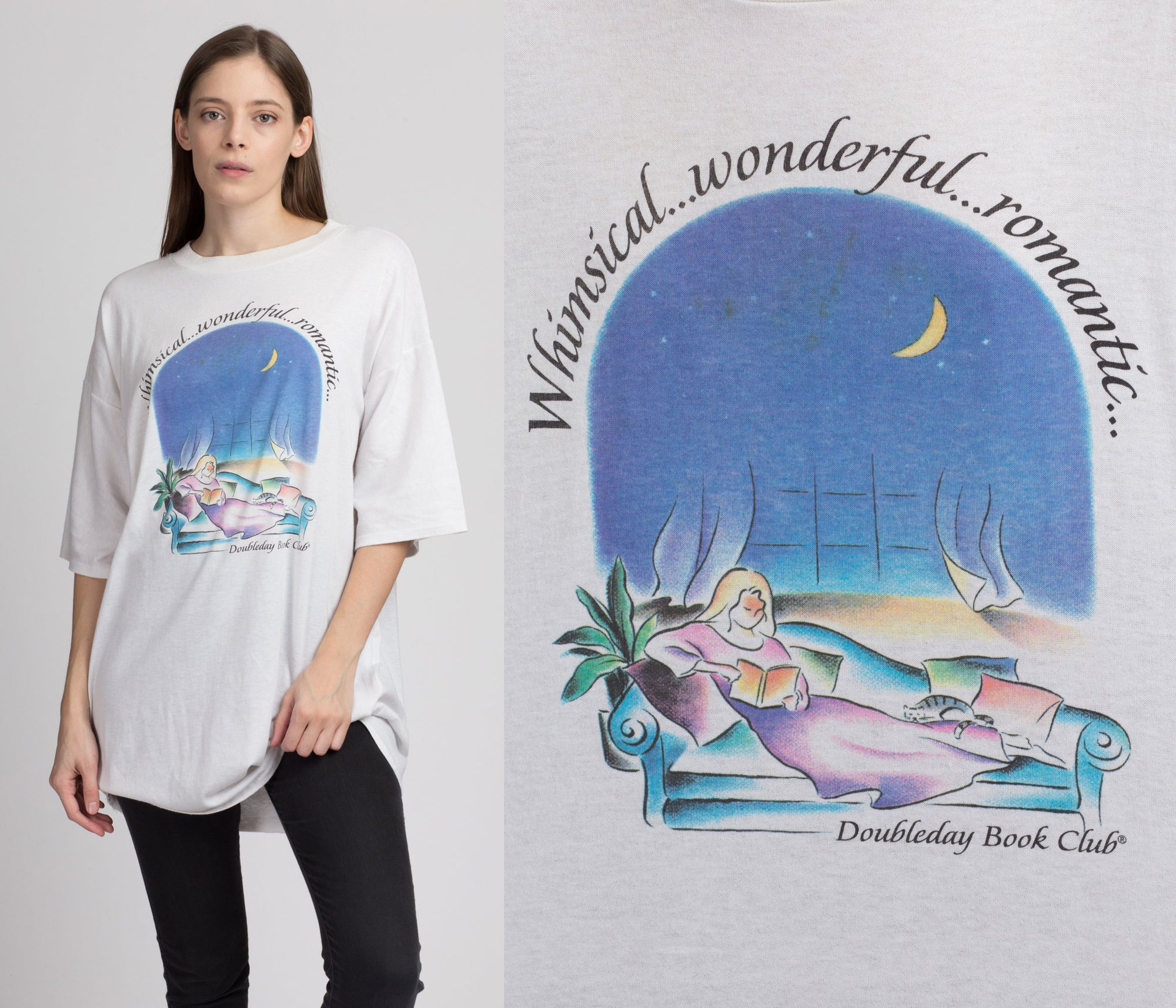 "90s ""Whimsical, Wonderful, Romantic"" Sleep Shirt - One Size"