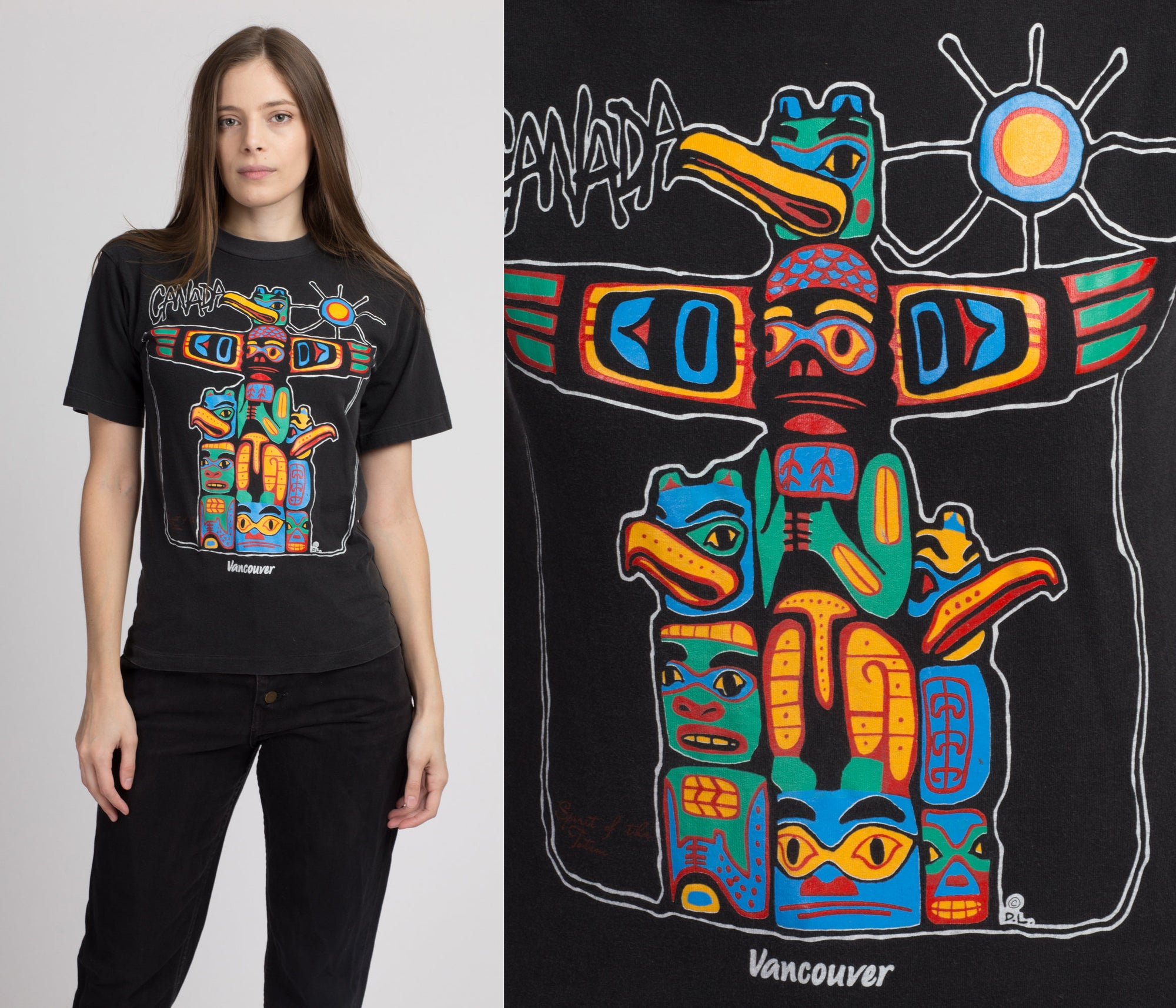 90s Spirit Of The Totem Canada T Shirt - Extra Small