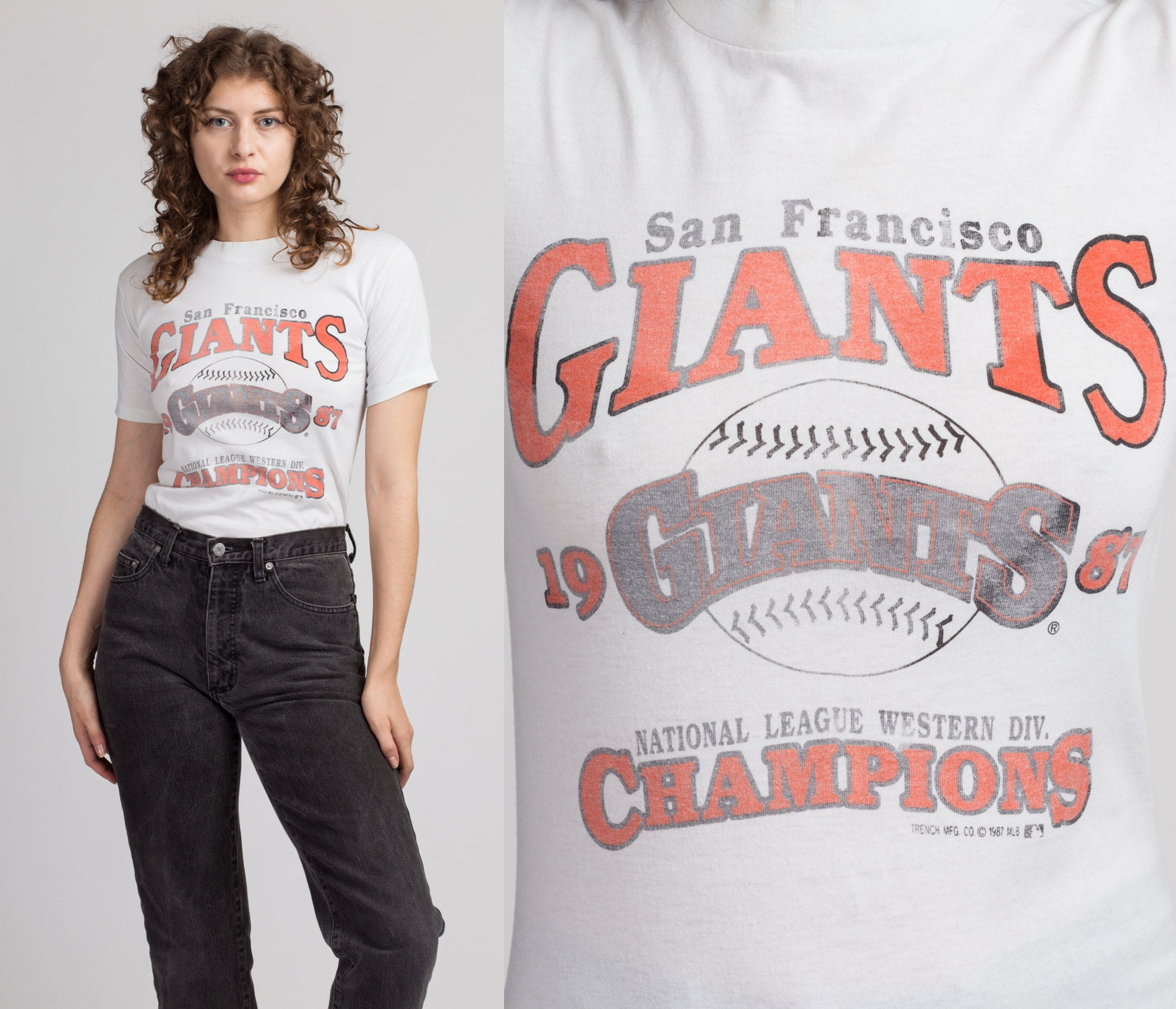 1987 San Francisco Giants T Shirt - Extra Small