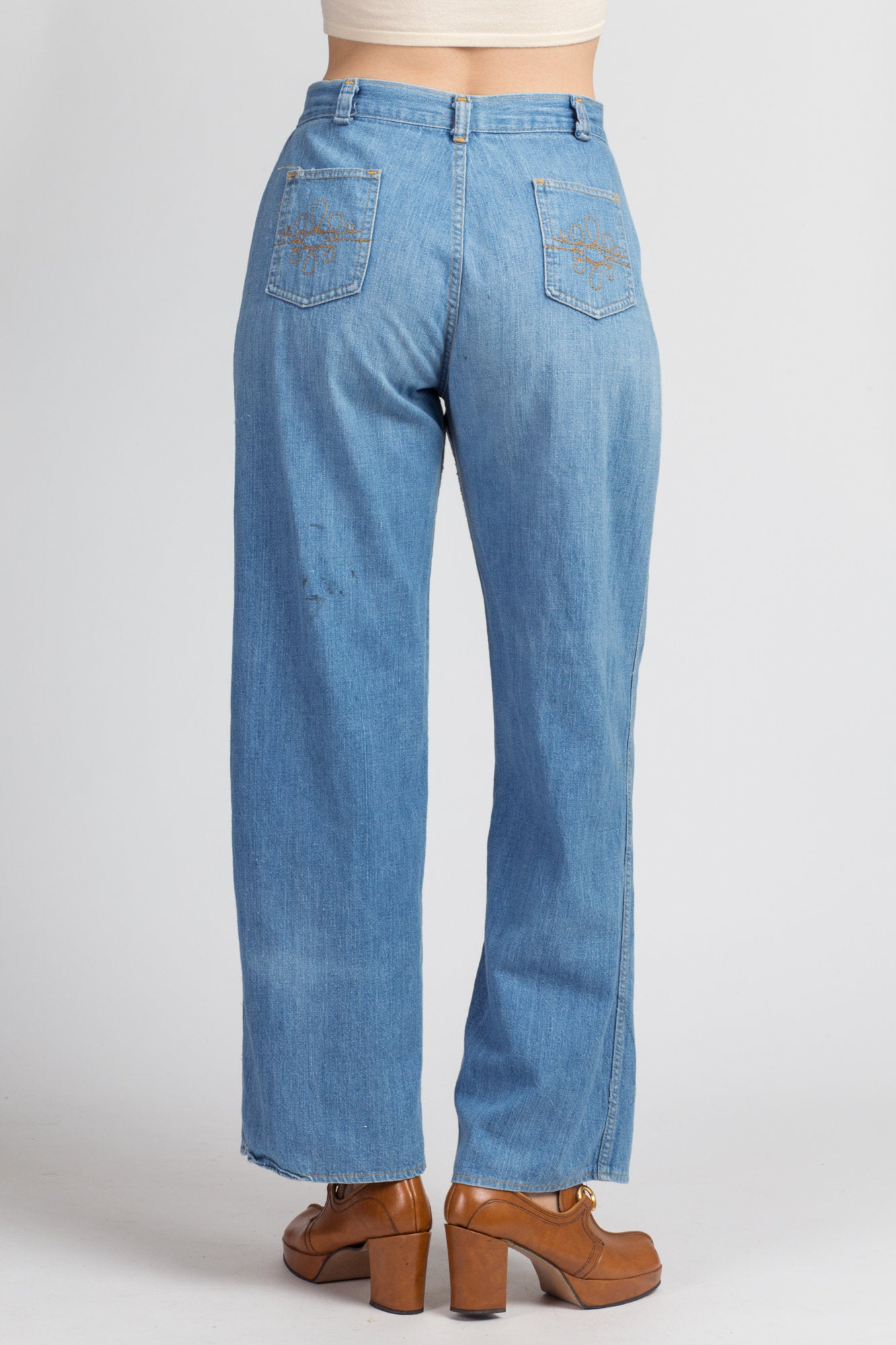 70s Lightweight High Waist Jeans - Medium, 29""