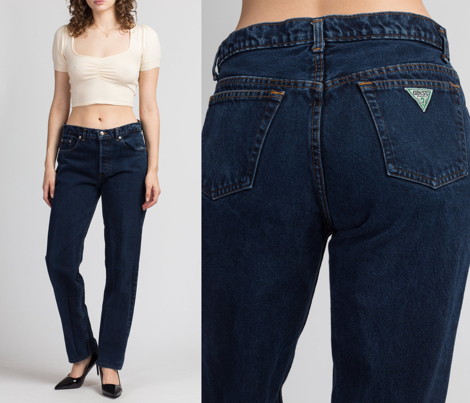 Vintage High Waist Guess Jeans - Medium, 31""