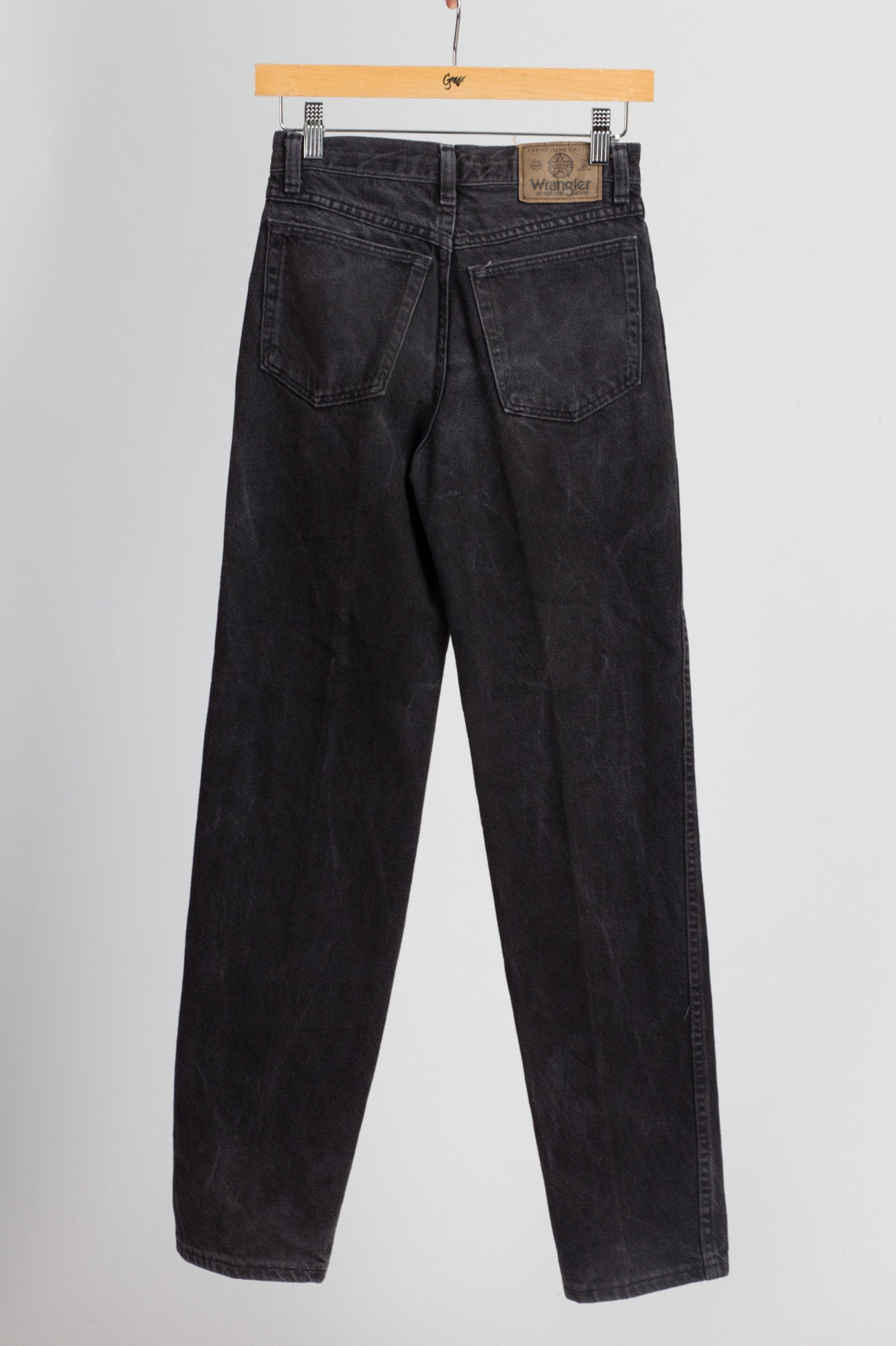 Vintage Wrangler Black Mid Rise Jeans - Extra Small