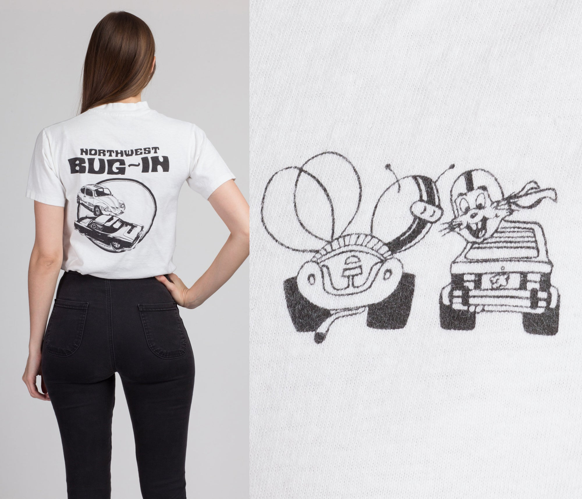 80s Northwest Bug-In Classic Car Tee - Small