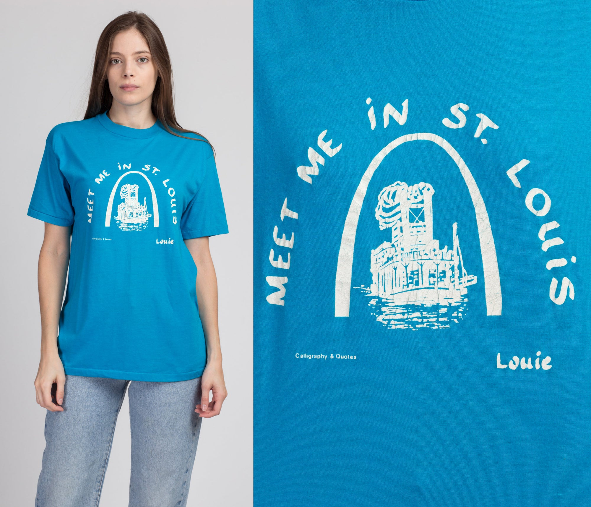 "80s ""Meet Me In St. Louis"" Tourist Tee - Large"