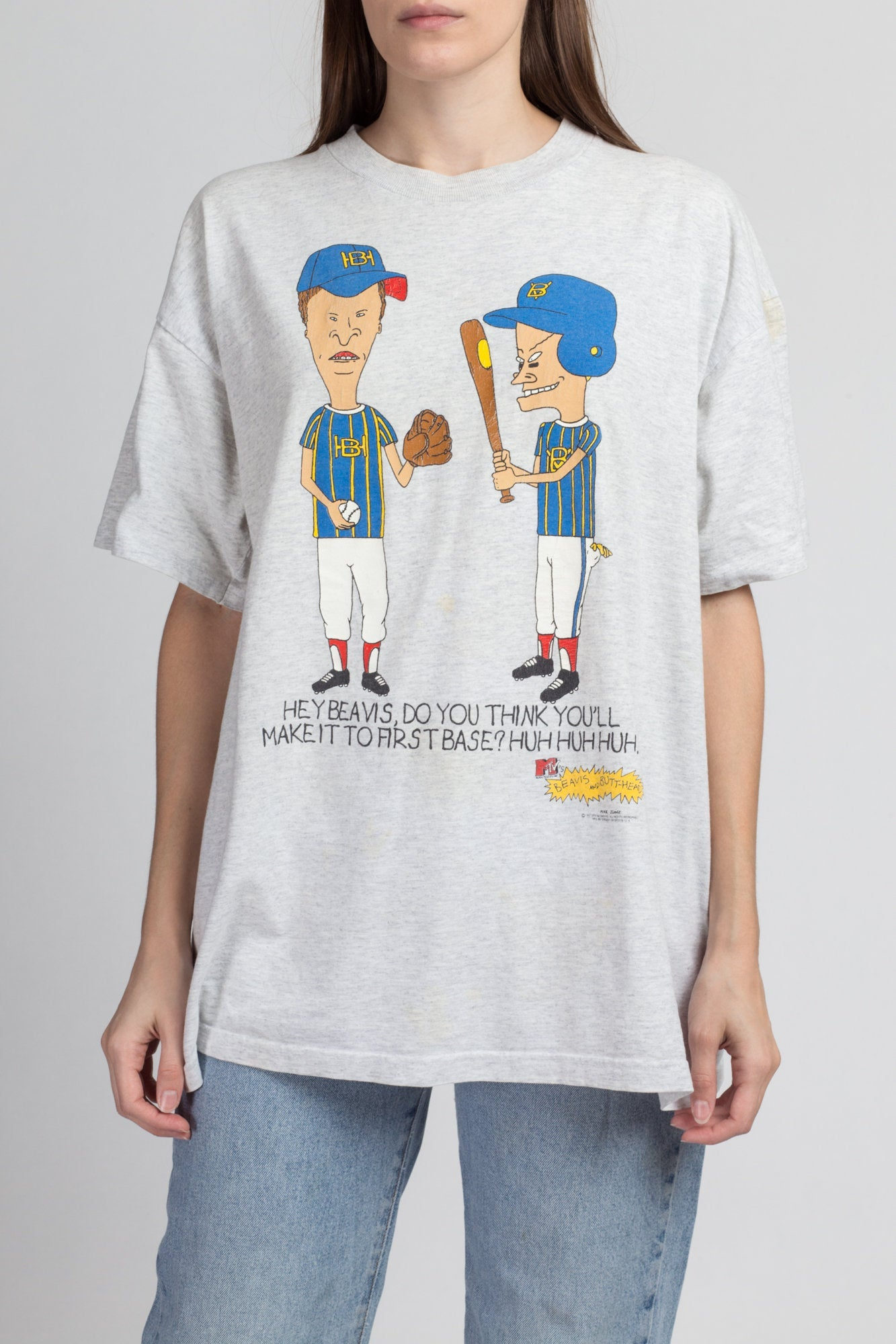 Vintage 90s Beavis And Butthead T Shirt - Extra Large