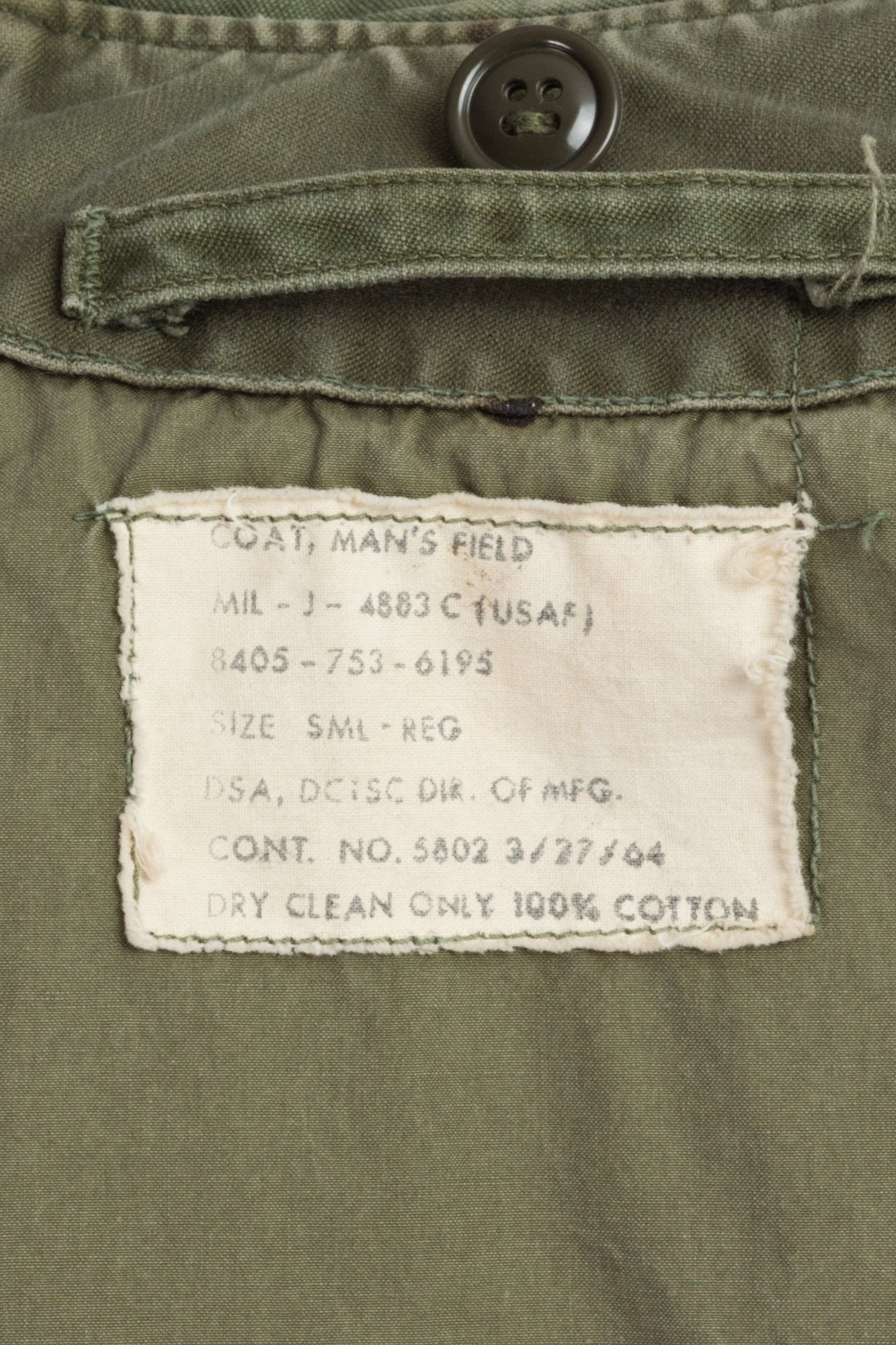 1964 Military M-51 Field Jacket - Men's Small