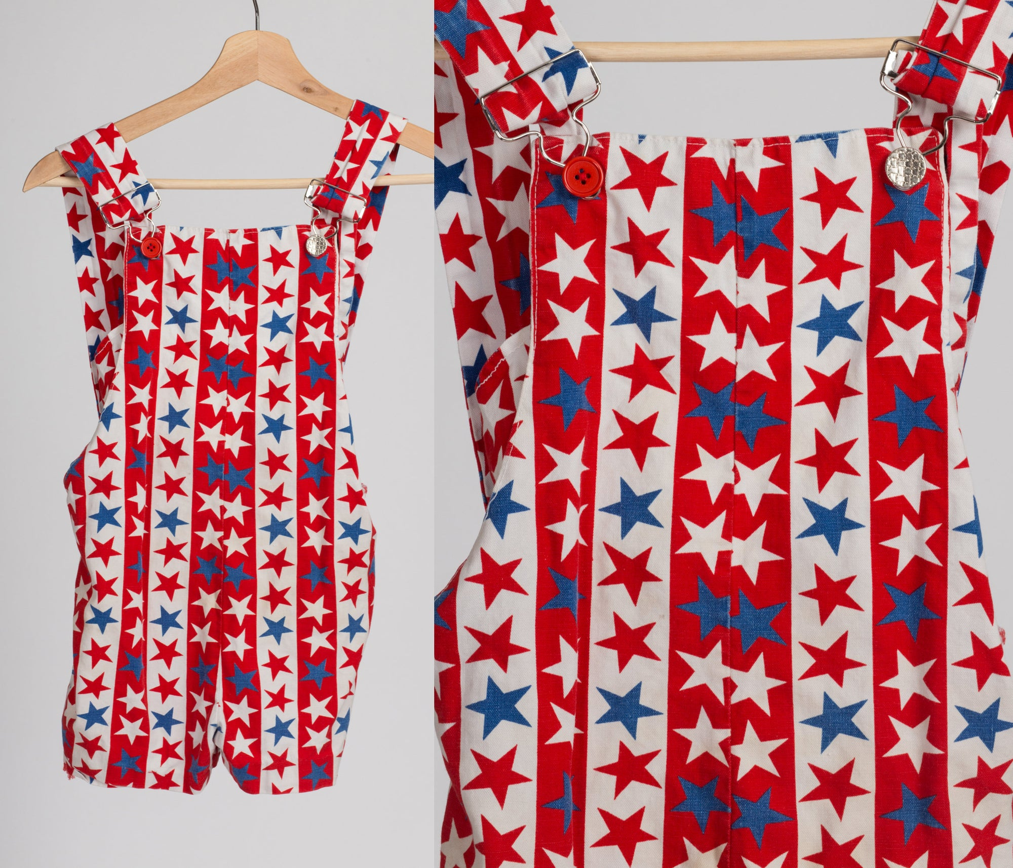 70s Stars & Stripes Overalls - Kid's Small