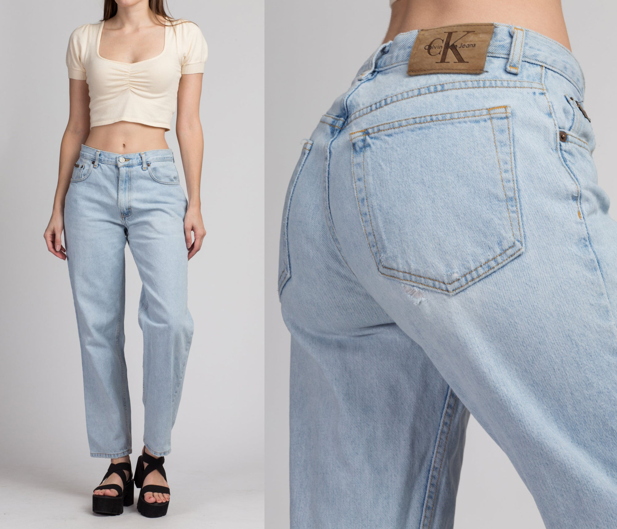 90s Calvin Klein High Waisted Jeans - Medium, 29""