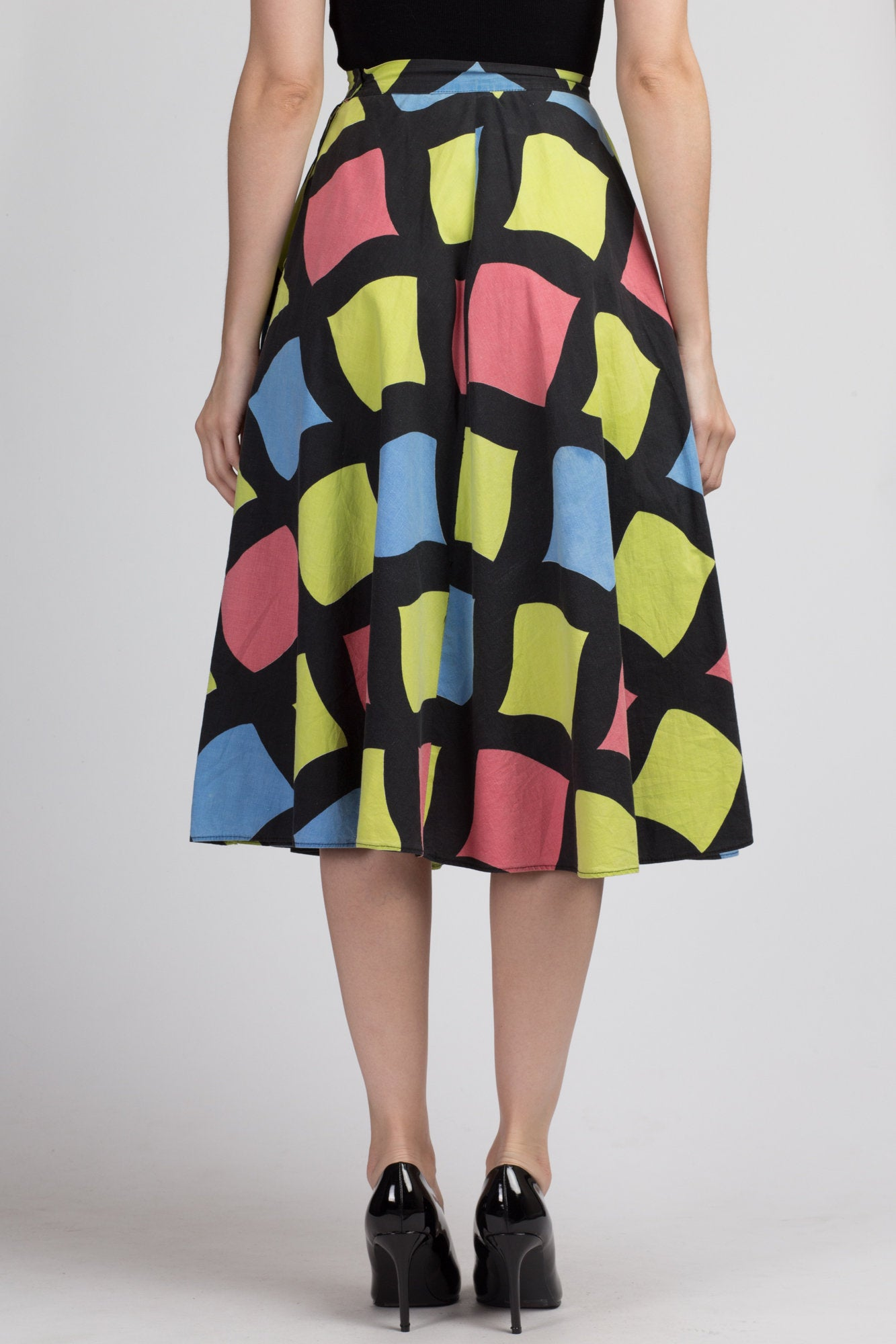 Vintage 50s Colorful Circle Skirt - Extra Small