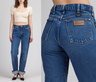 "Vintage Wrangler High Waist Jeans - Medium Long, 29"" Waist"