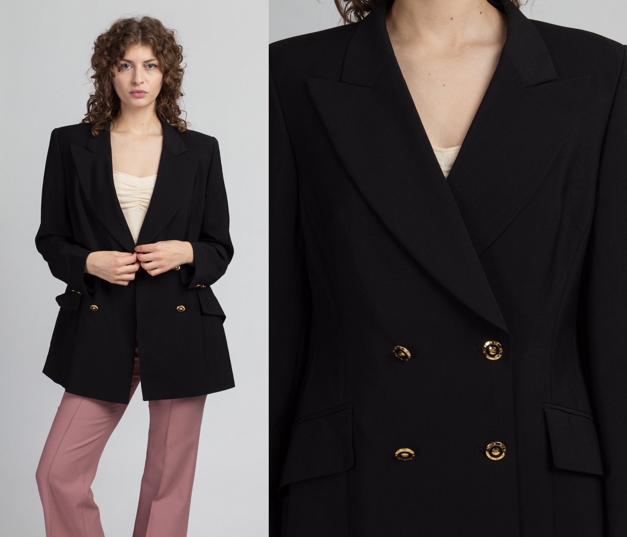 80s Black Escada Blazer - 40, Medium