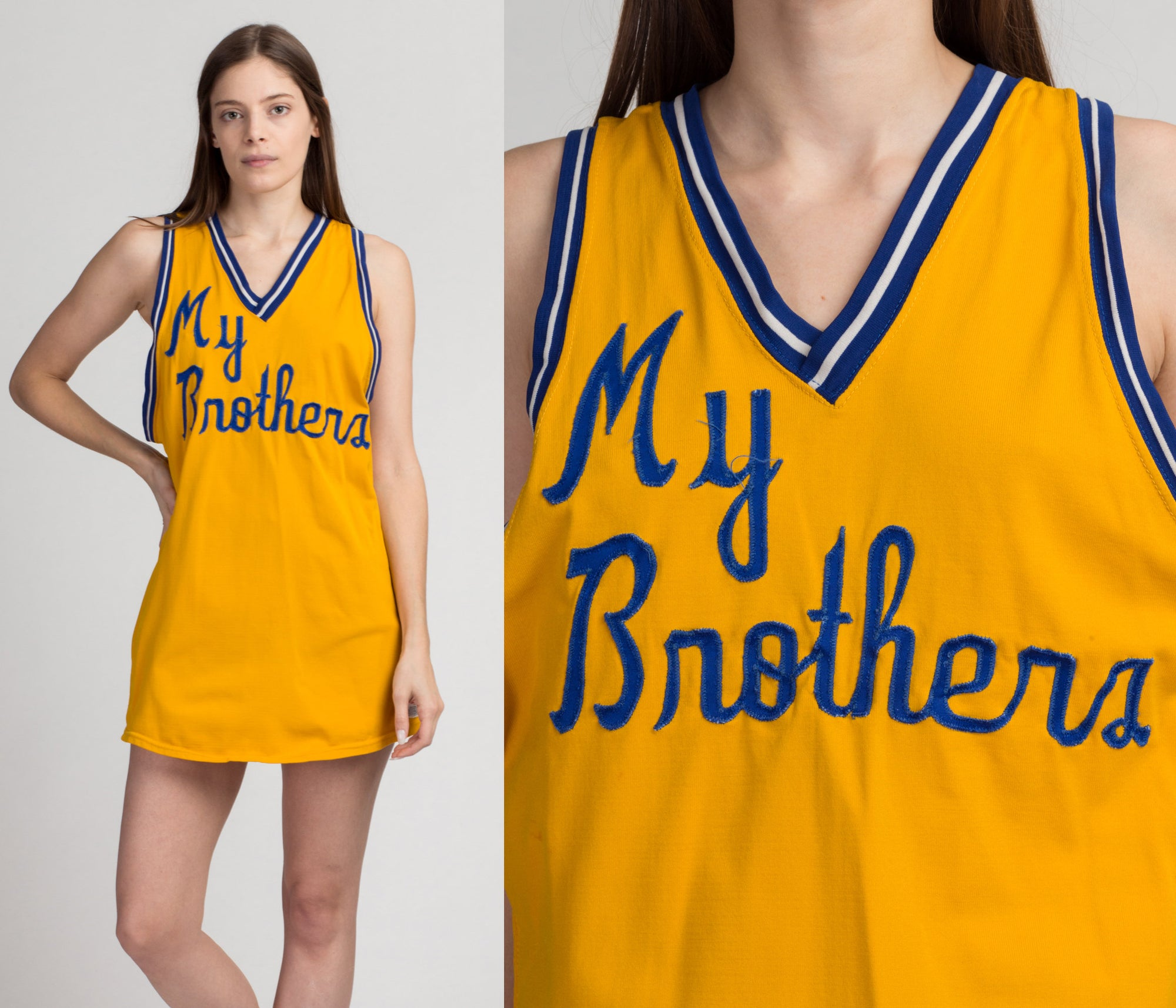 "70s ""My Brothers"" #22 Basketball Jersey - Men's Medium 