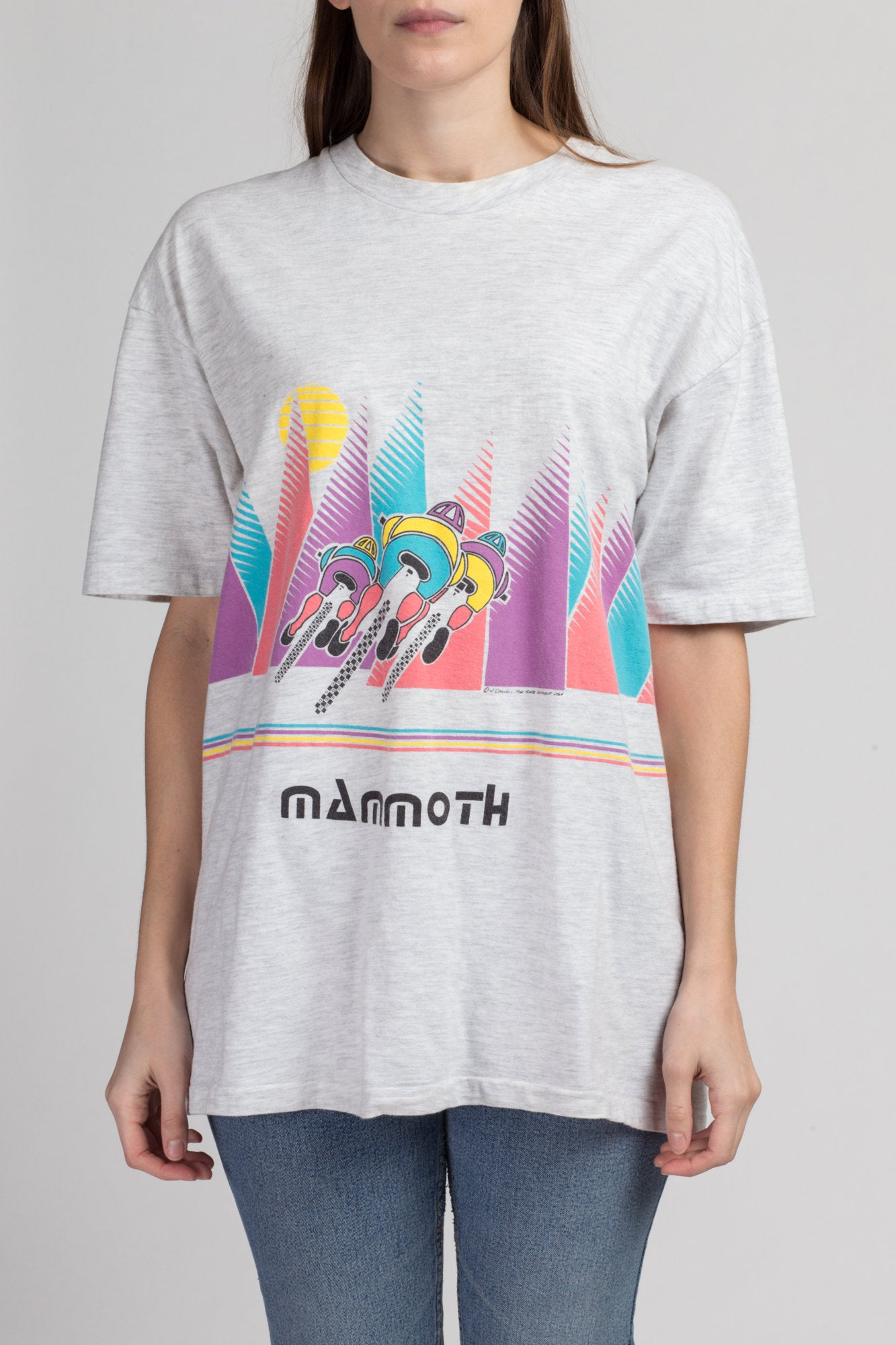 90s Mammoth Mountain Biking Graphic Tee - Extra Large | Vintage Unisex California Tourist T Shirt