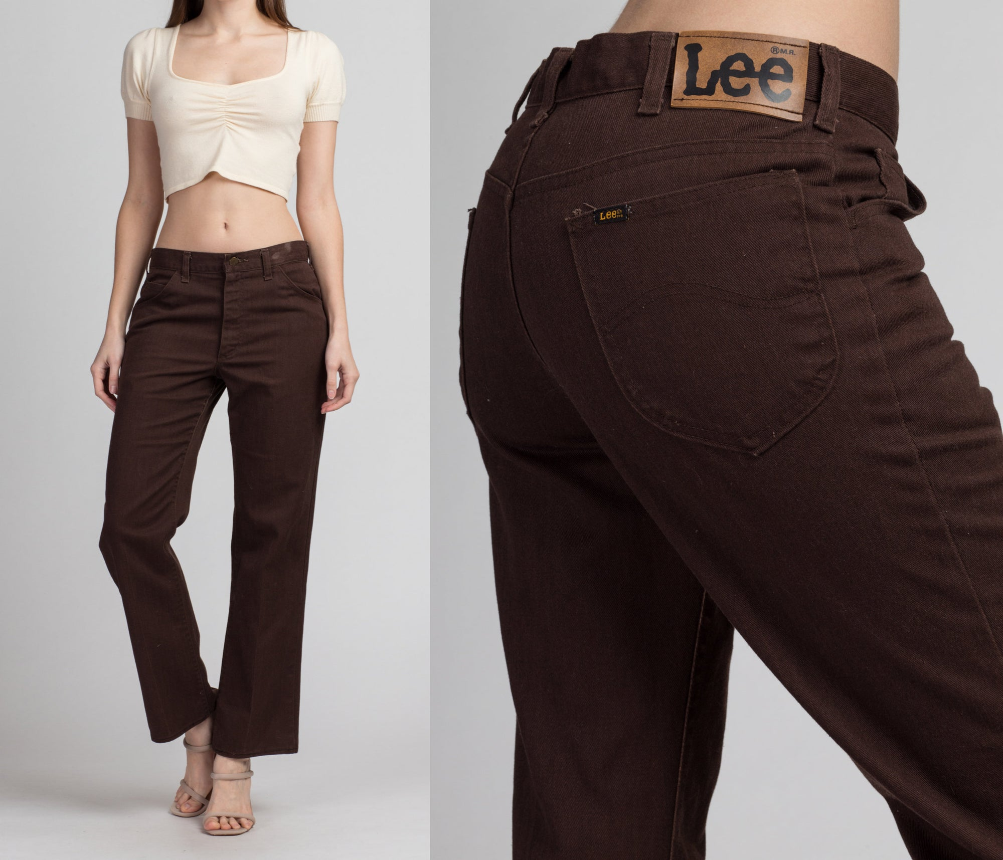 70s Lee Riders Dark Brown Jeans - Men's Small, 32"